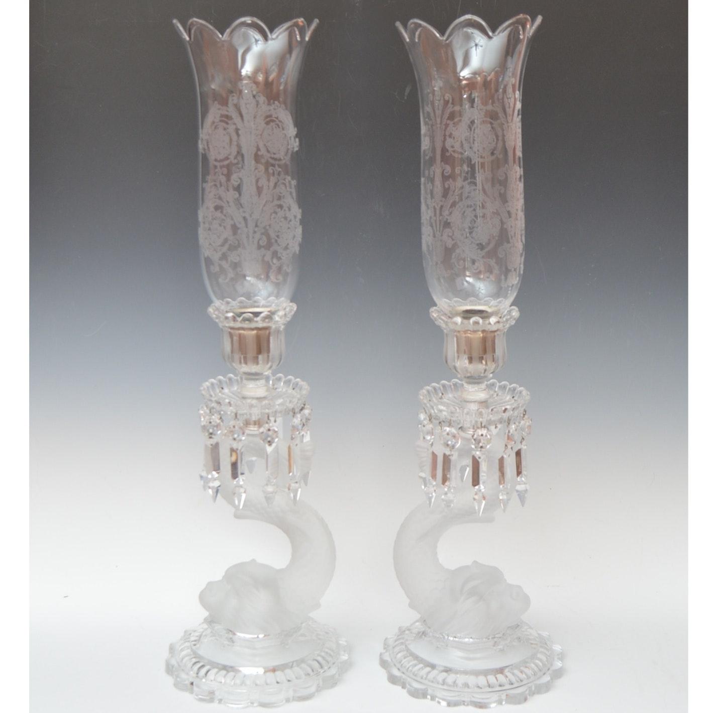 Baccarat Tige Dauphin Crystal Tealight Candleholders