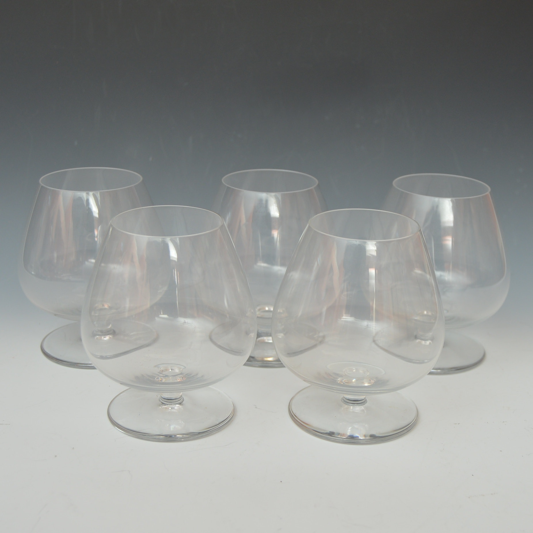 "Set of St. Louis Crystal ""Tenareze"" Brandy Snifters"