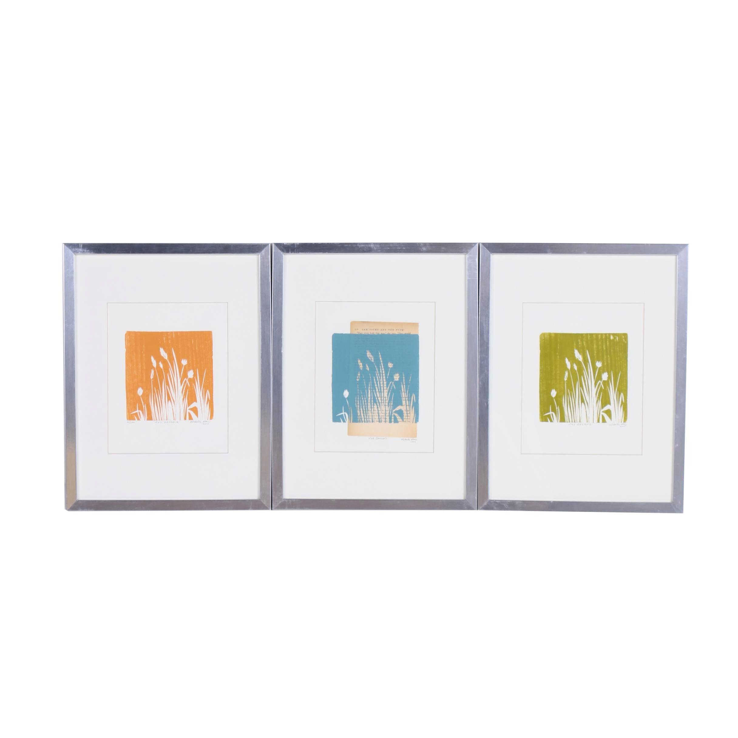 "2010 Michelle Han ""Tall Grasses""  Woodblock Prints"