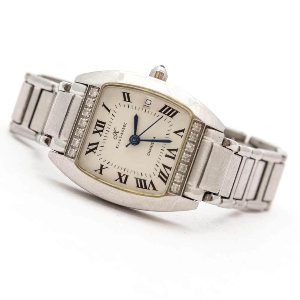 Klaus Kobec Wristwatch with Diamond Accents