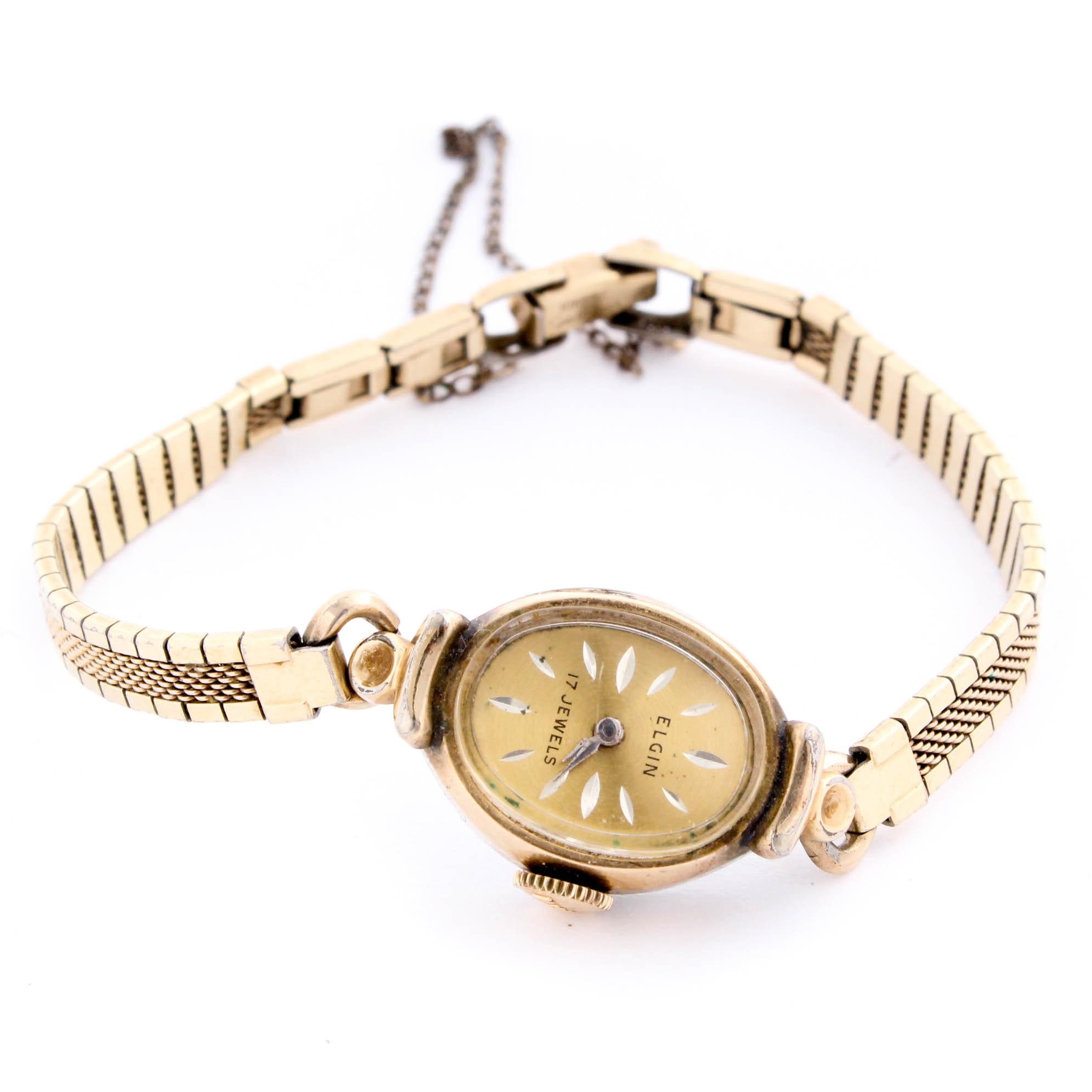 Vintage Elgin 10K Gold Plated Wristwatch