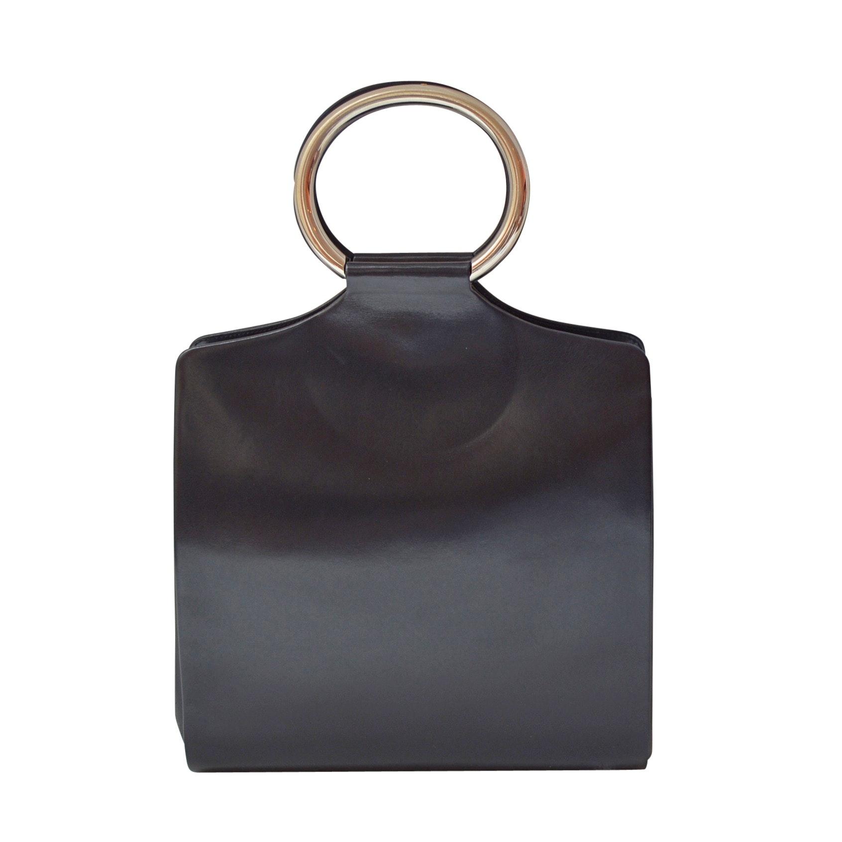 Rodo Italian Navy Blue Leather Handbag