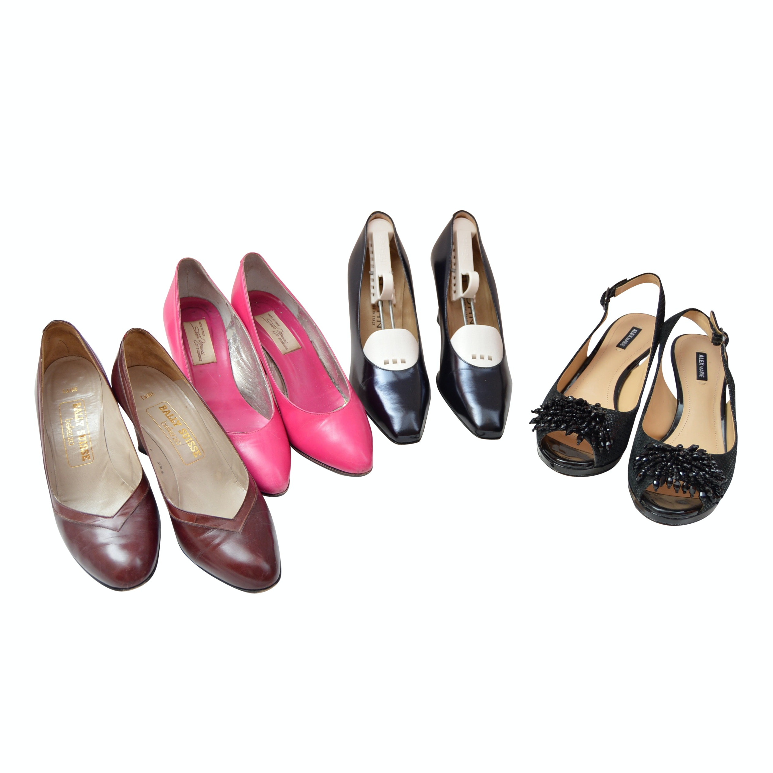 Women's Designer Leather Shoes including St. John and Bally