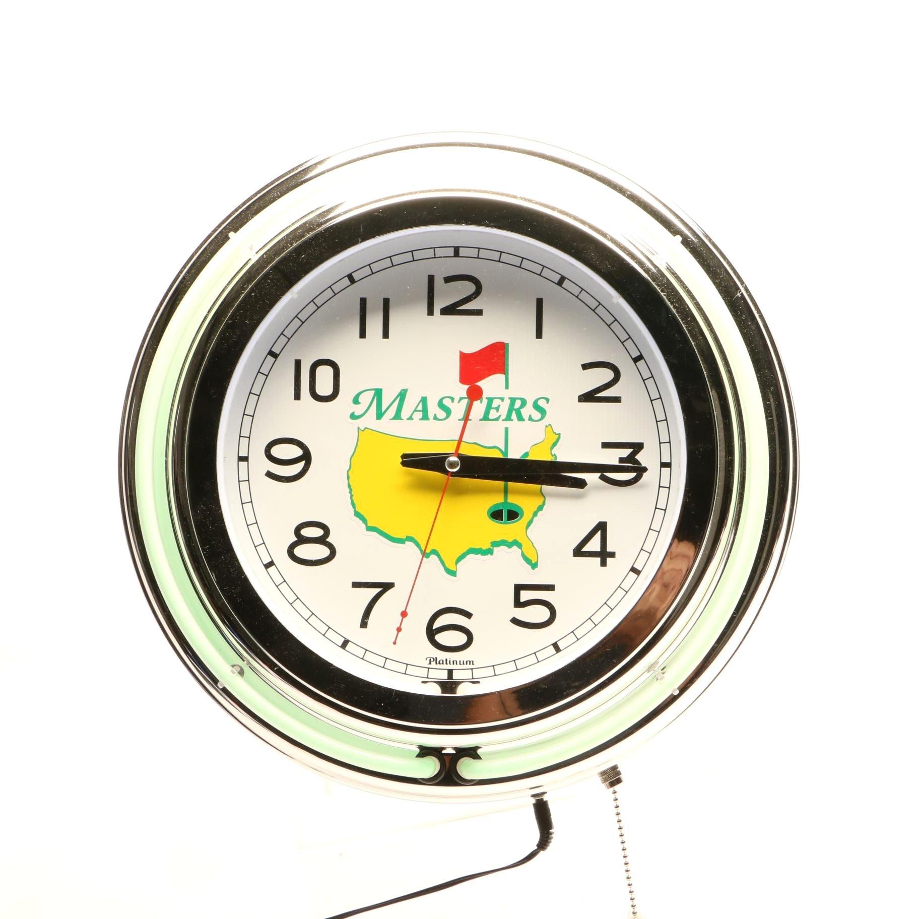 Masters Neon Wall Clock