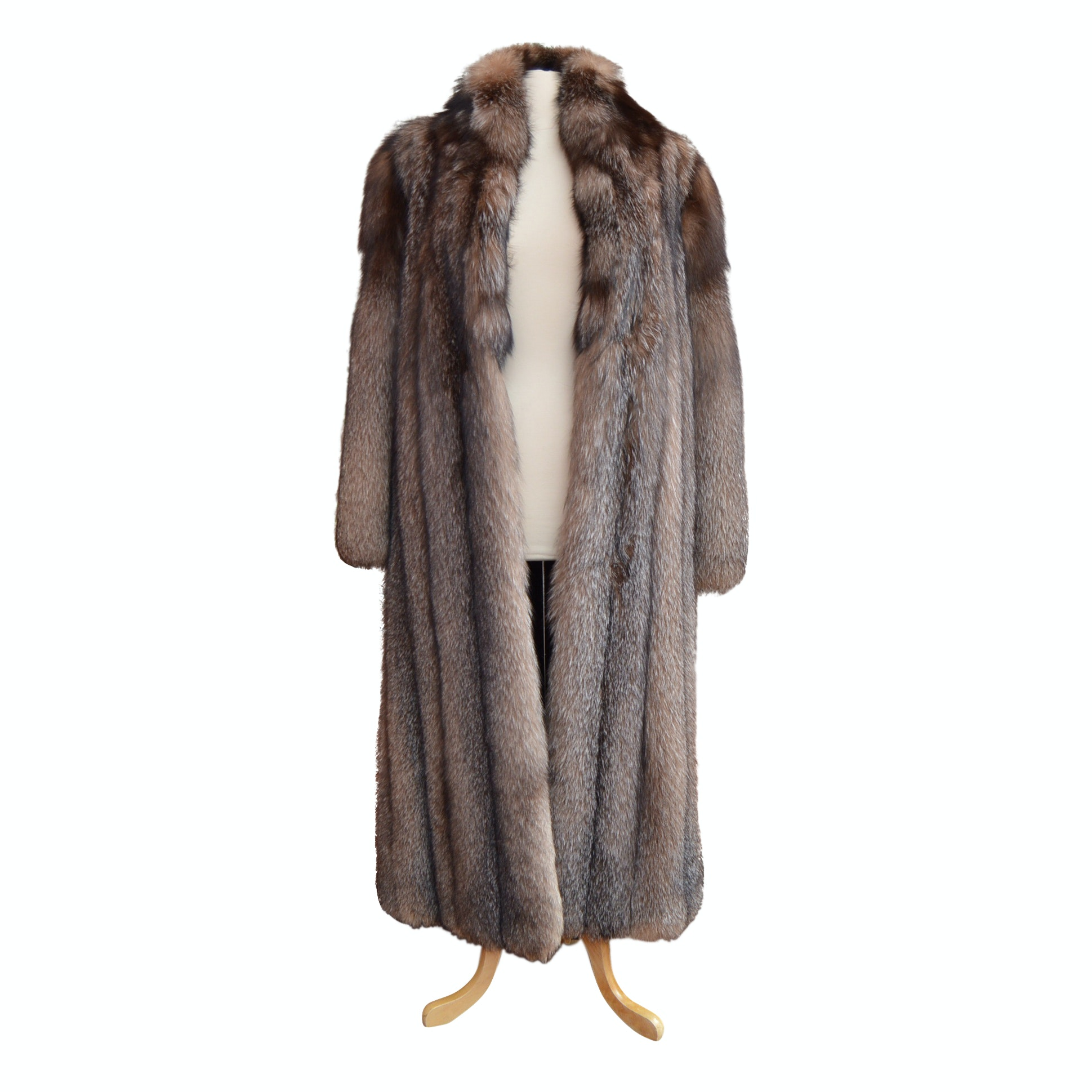 Vintage Crystal Fox Fur Coat from Kotsovos