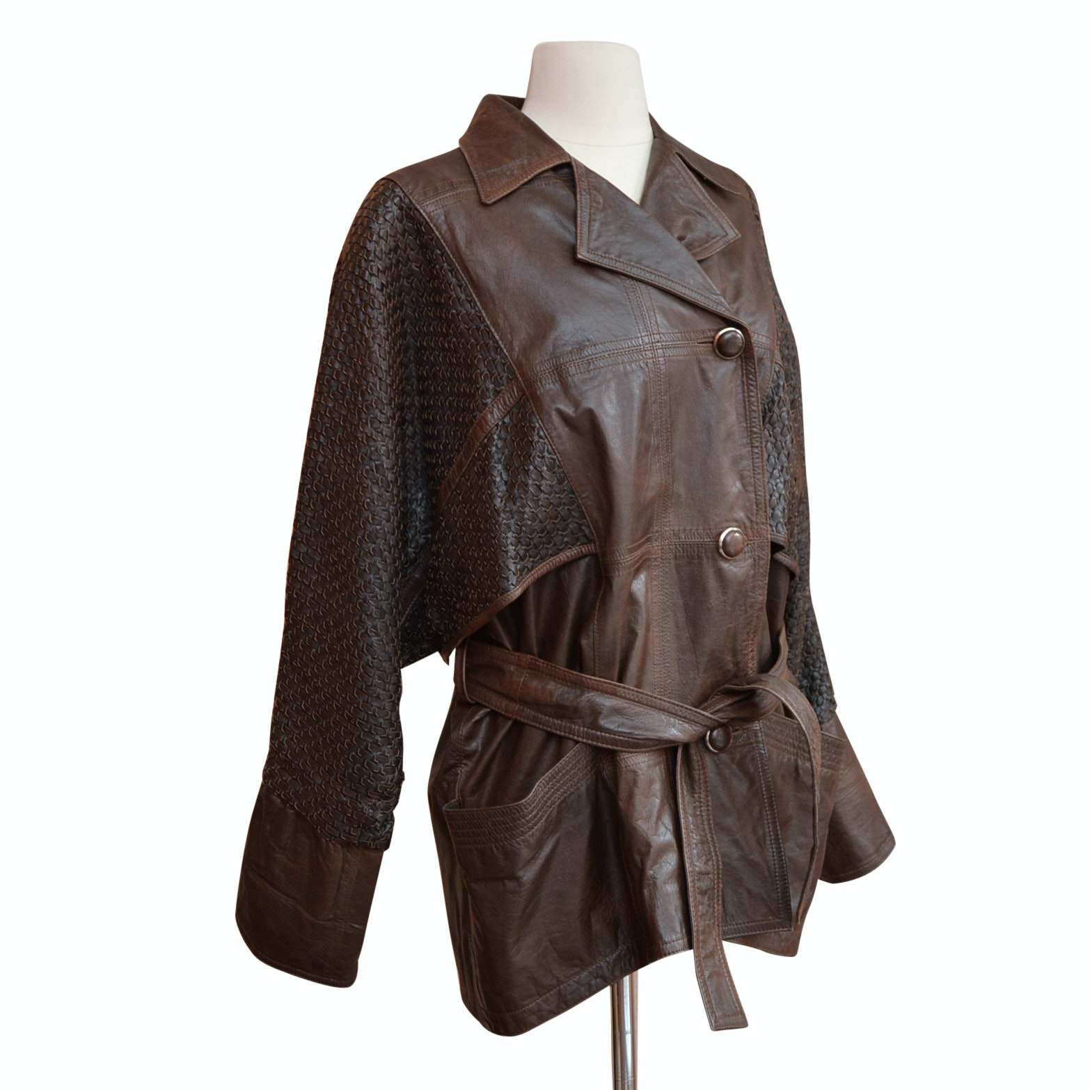 Women's Vintage Celine Paris Brown Leather Jacket