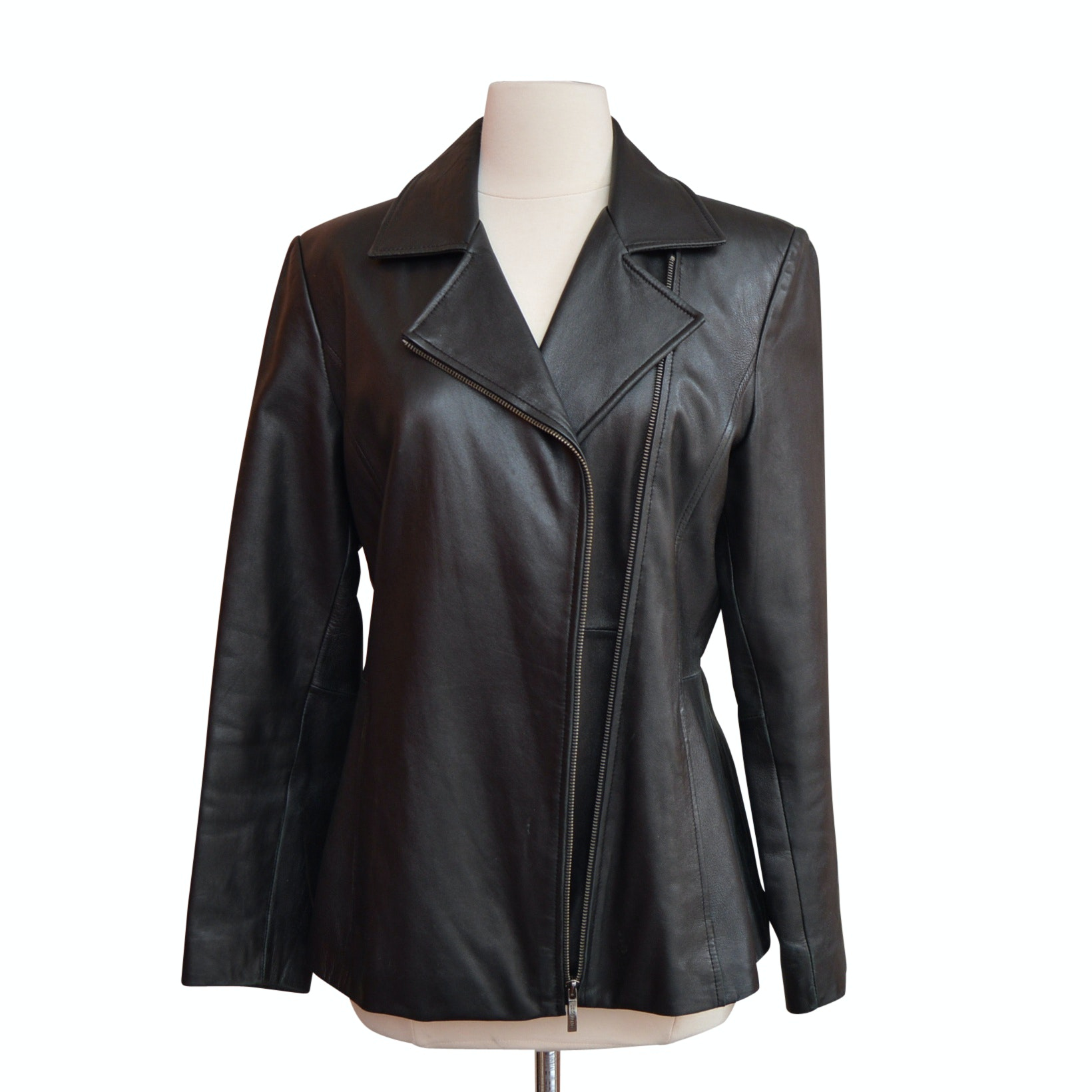 Liz Claiborne Black Leather Jacket
