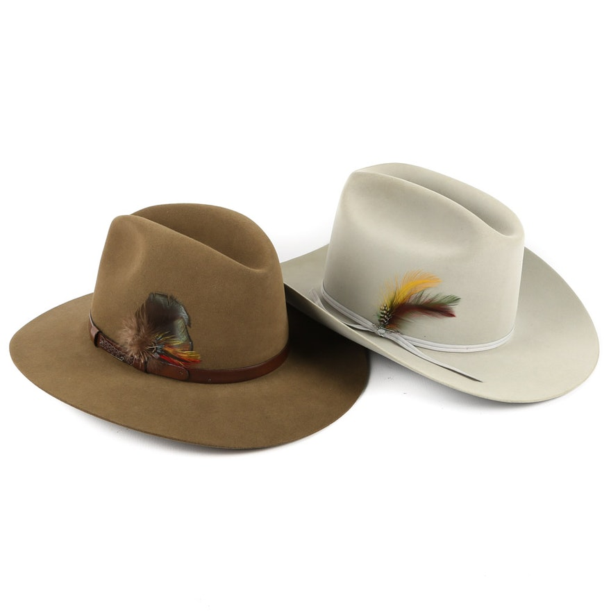 3a30ef26be01d Stetson 15X Felted and The Gun Club Cowboy Hats   EBTH