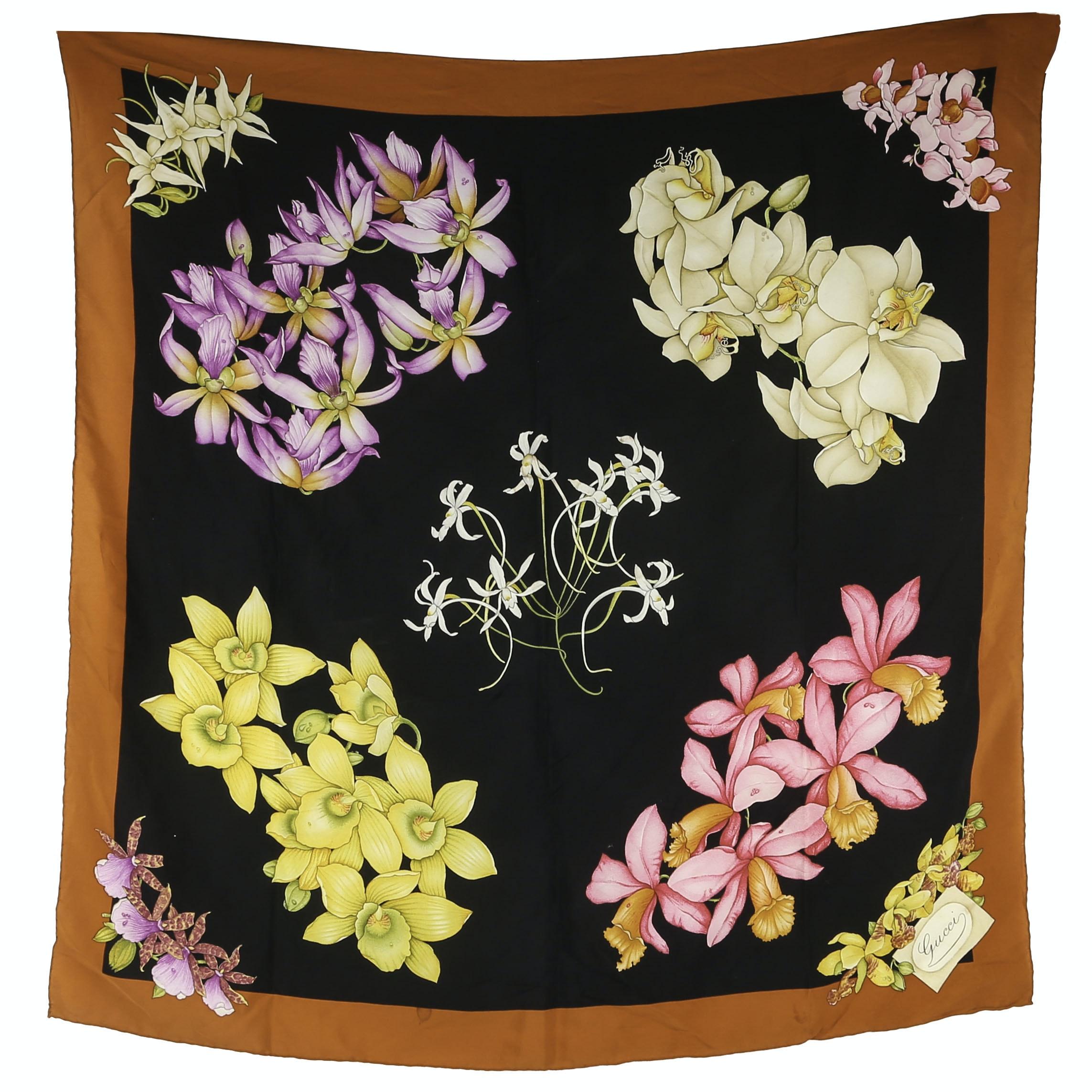 Gucci Silk Scarf in Florals