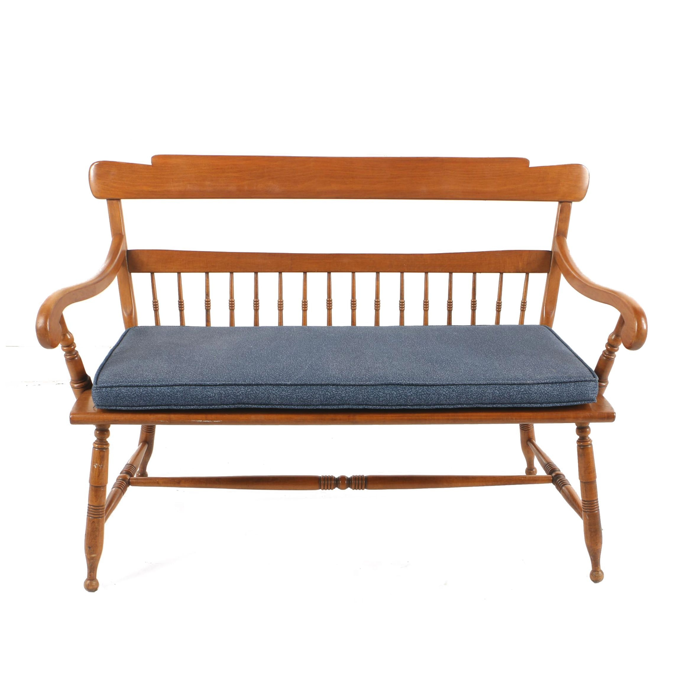 Vintage Colonial Style Maple Bench