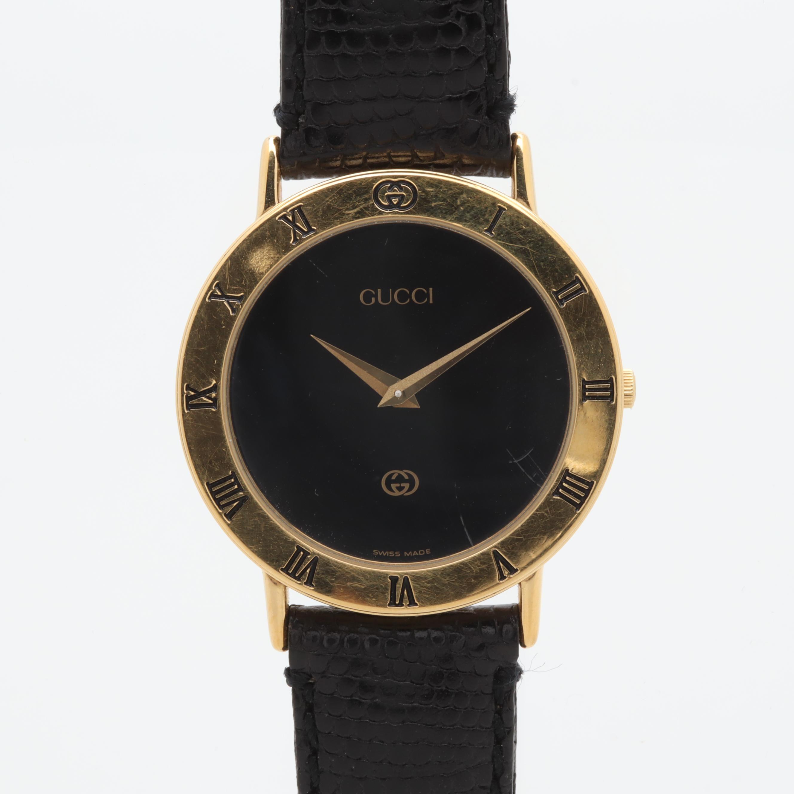 Gucci 3000M Gold Plated Wristwatch