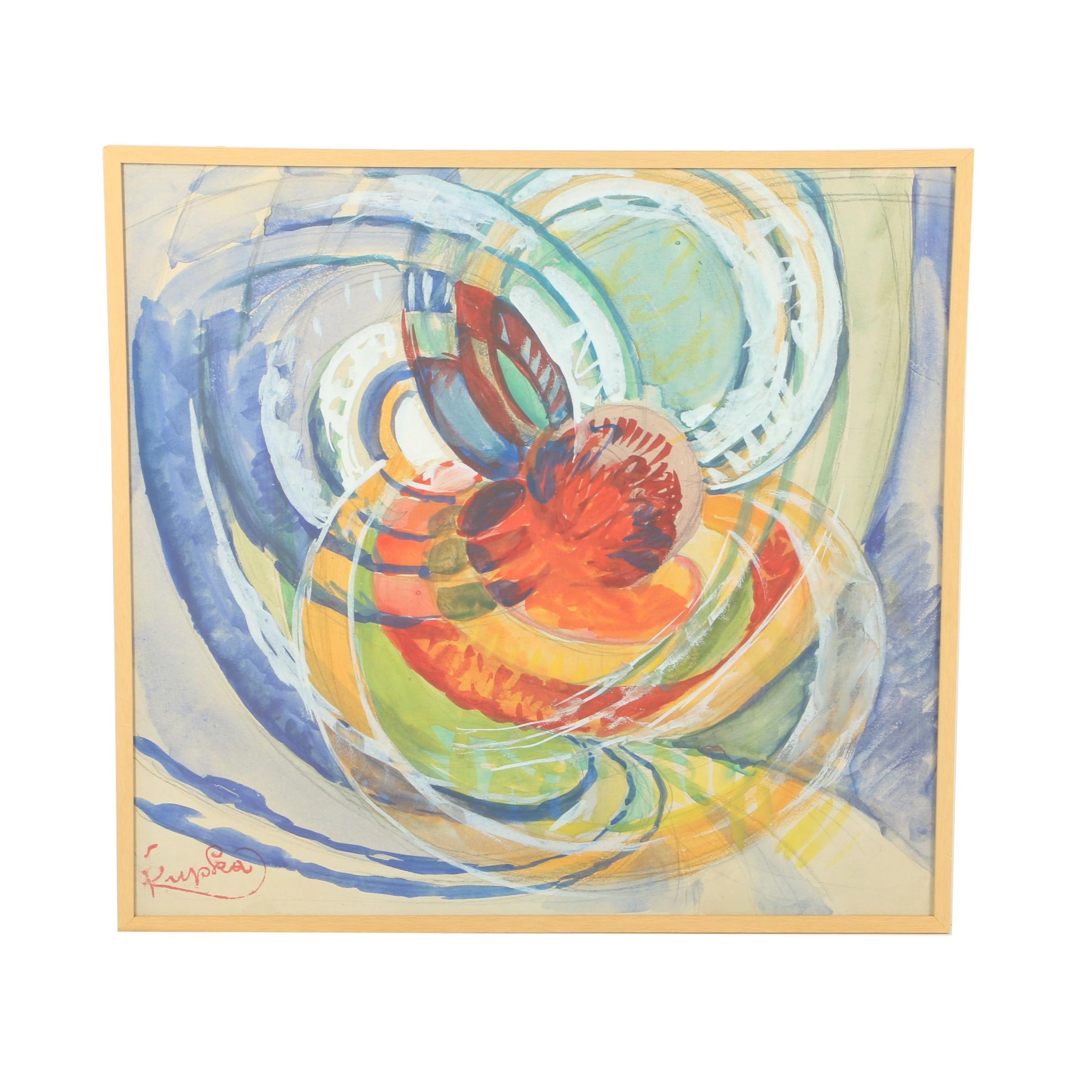 "Giclée after Frantisek Kupka ""Study for Around a Point"""