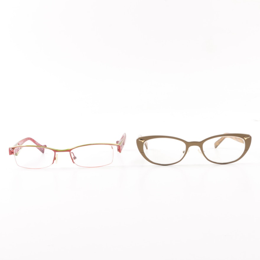 ab5fb1b214e Jean Lafont Esther and Etnia Barcelona Al Rahba Prescription Eyeglasses ...
