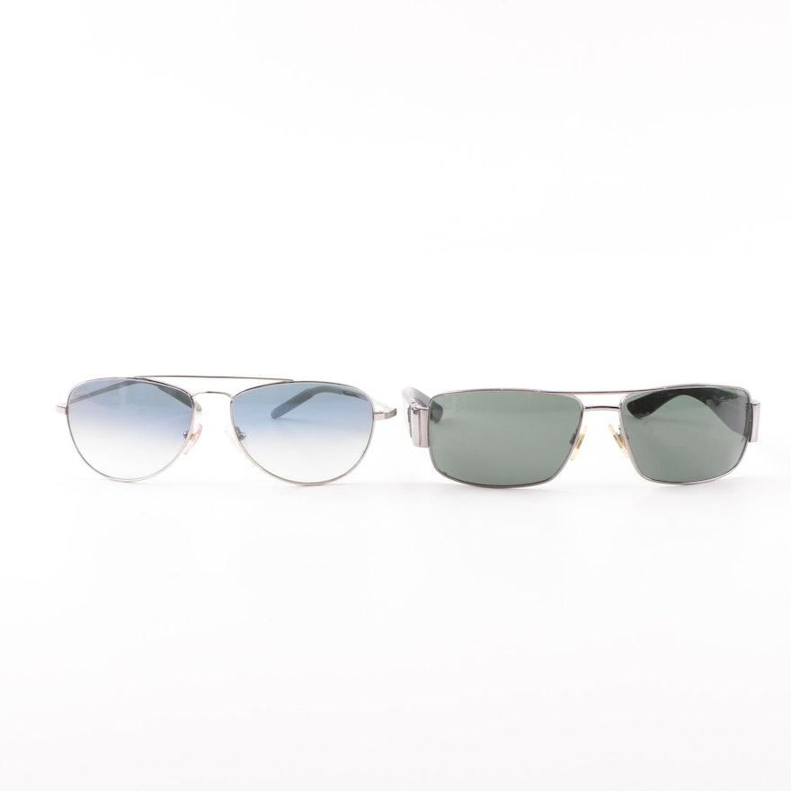 42cfa7dcbbee7 Ralph Lauren Polo and Mosley Tribes Aviator Style Sunglasses   EBTH