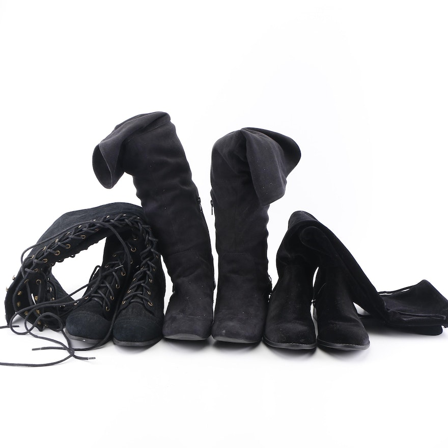 Black Boots including Aldo 29ae10056