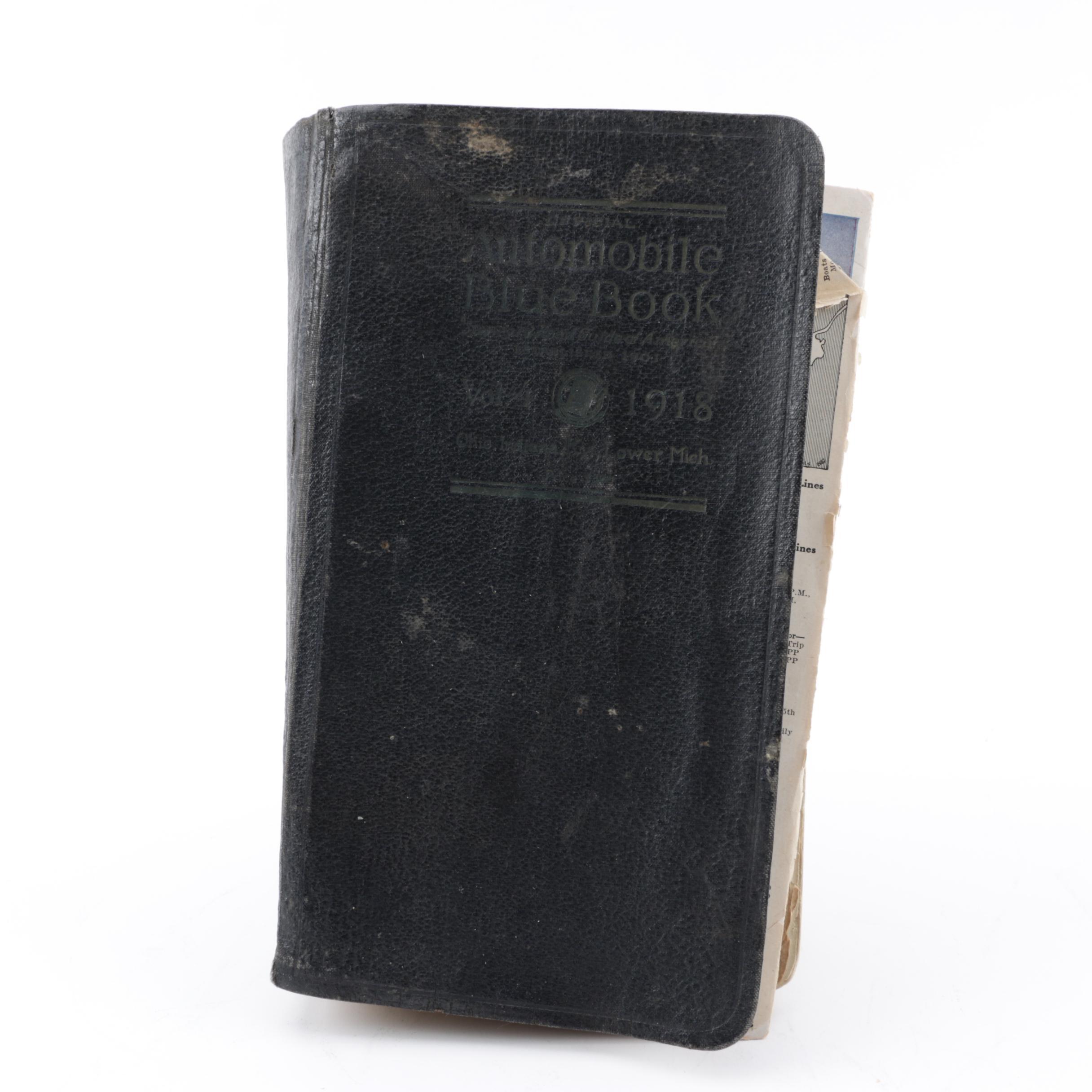 "1918 Volume Four ""Official Automobile Blue Book"""