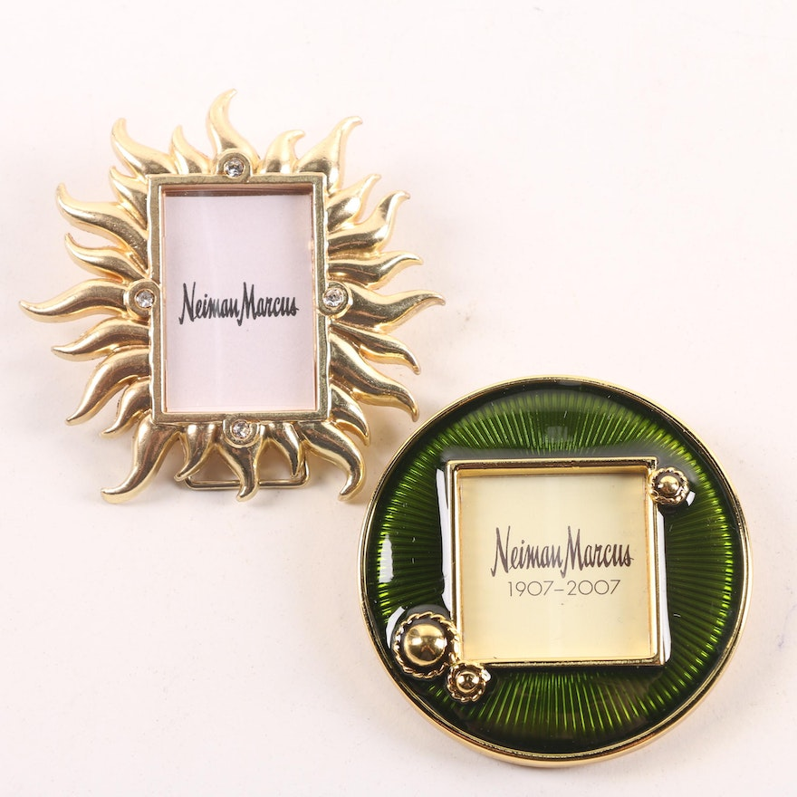 Jay Strongwater For Neiman Marcus Miniature Clip Back Picture Frames