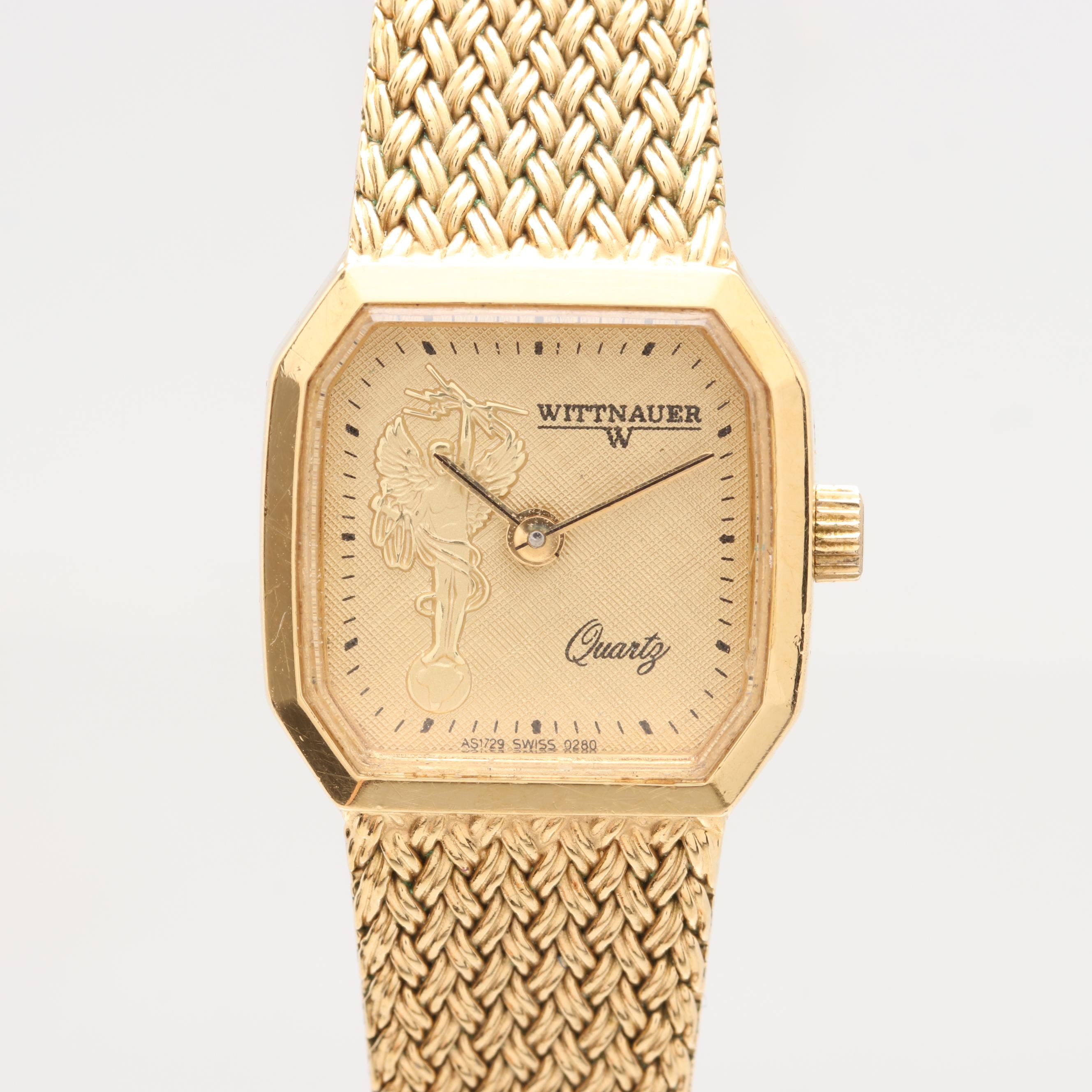 Wittnauer Gold Tone Analog Wristwatch