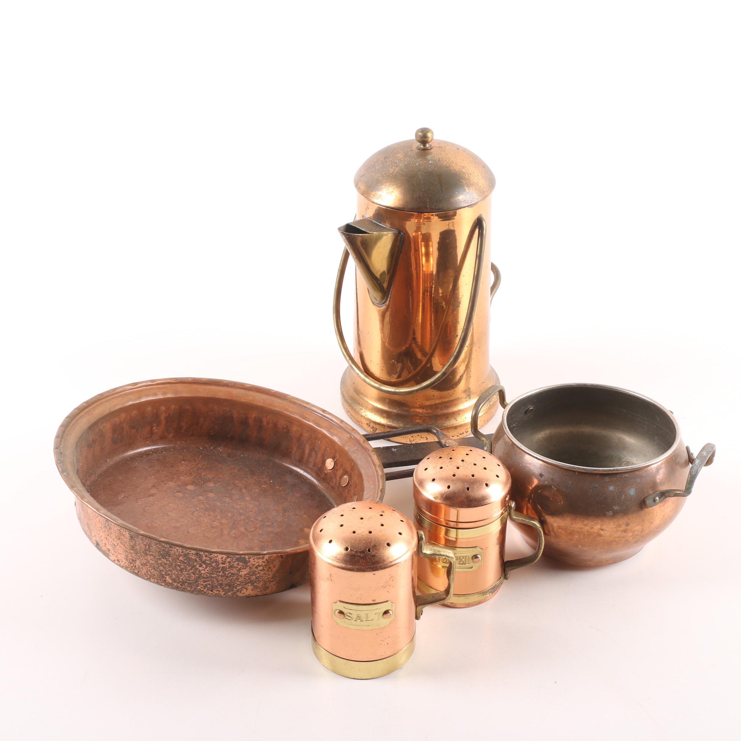 Vintage Copper Serveware