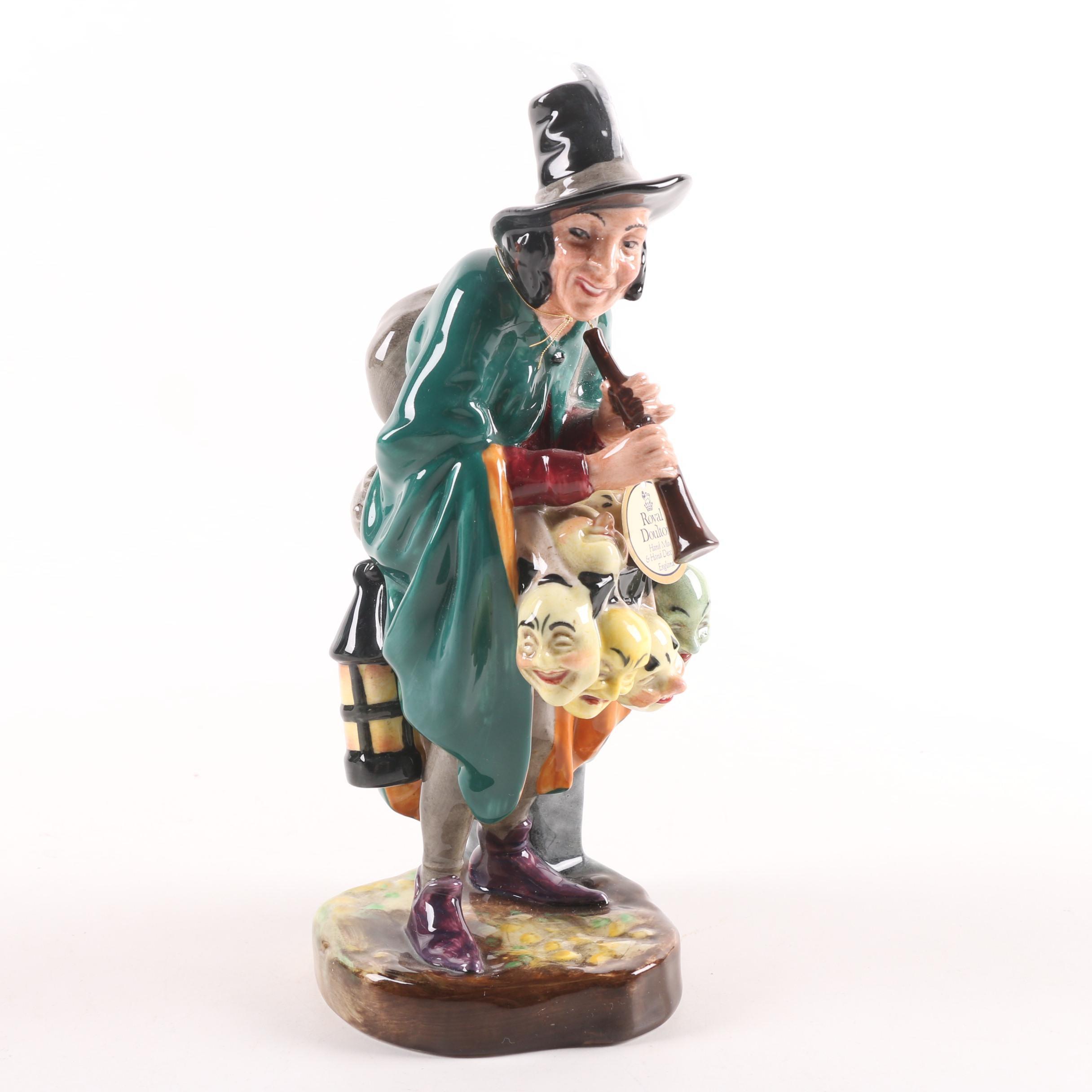 "1952 Royal Doulton ""The Mask Seller"" Hand Made English Bone China Figurine"