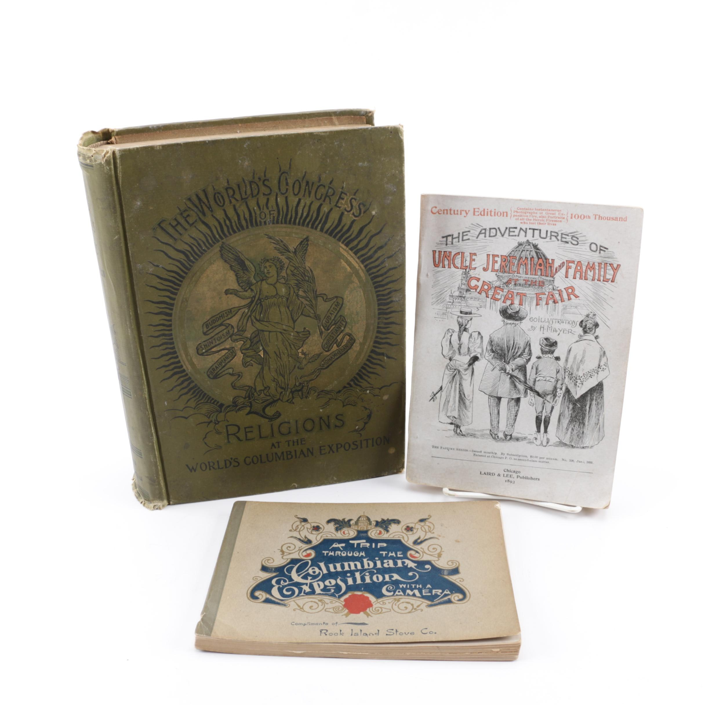 """1893 """"A Trip Through the Columbian Exposition"""" by Thos. Harrison and Other Books"""