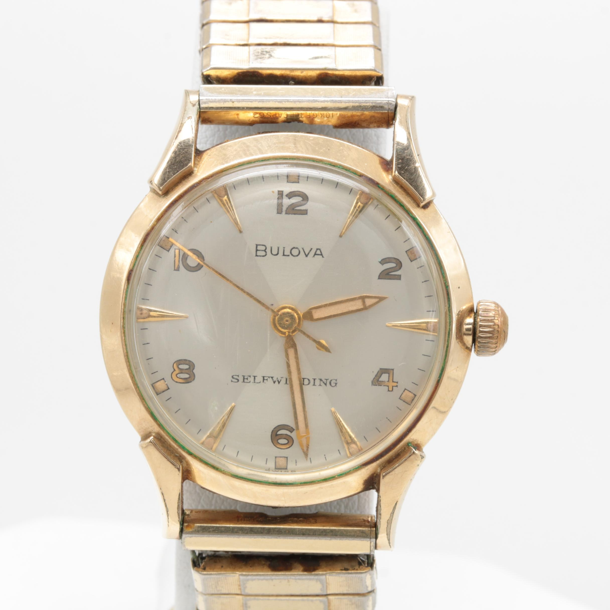 Bulova Rolled Gold Plated Stainless Steel Expansion Wristwatch