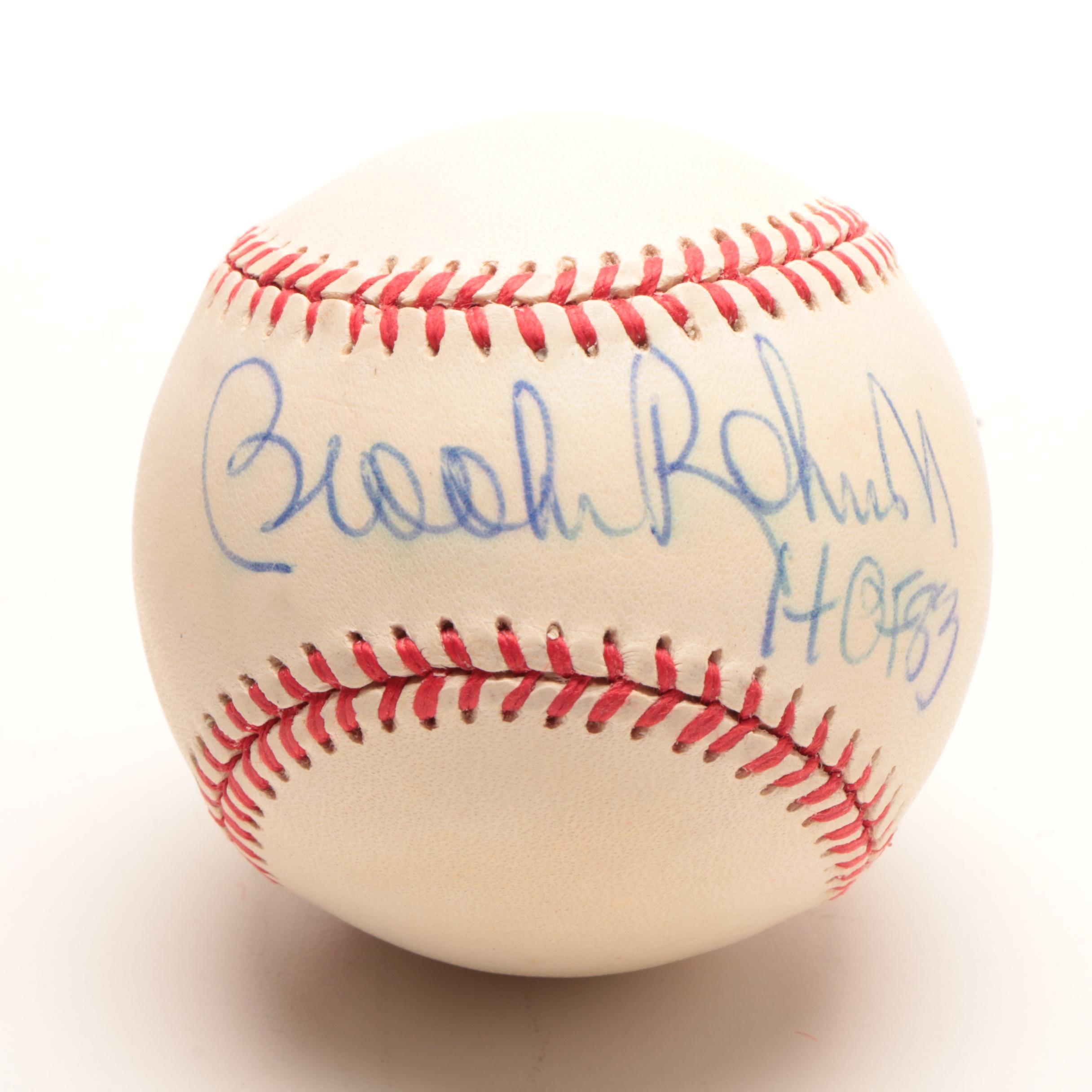 Brooks Robinson Signed American League Baseball  COA