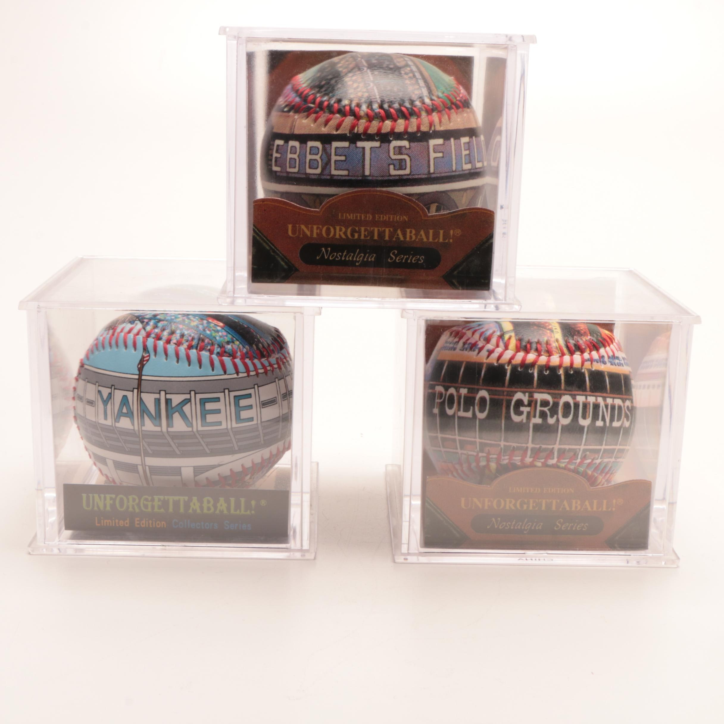 """Unforgettable Ball"" Limited Edition Famous Ball Parks Baseballs In Holders"
