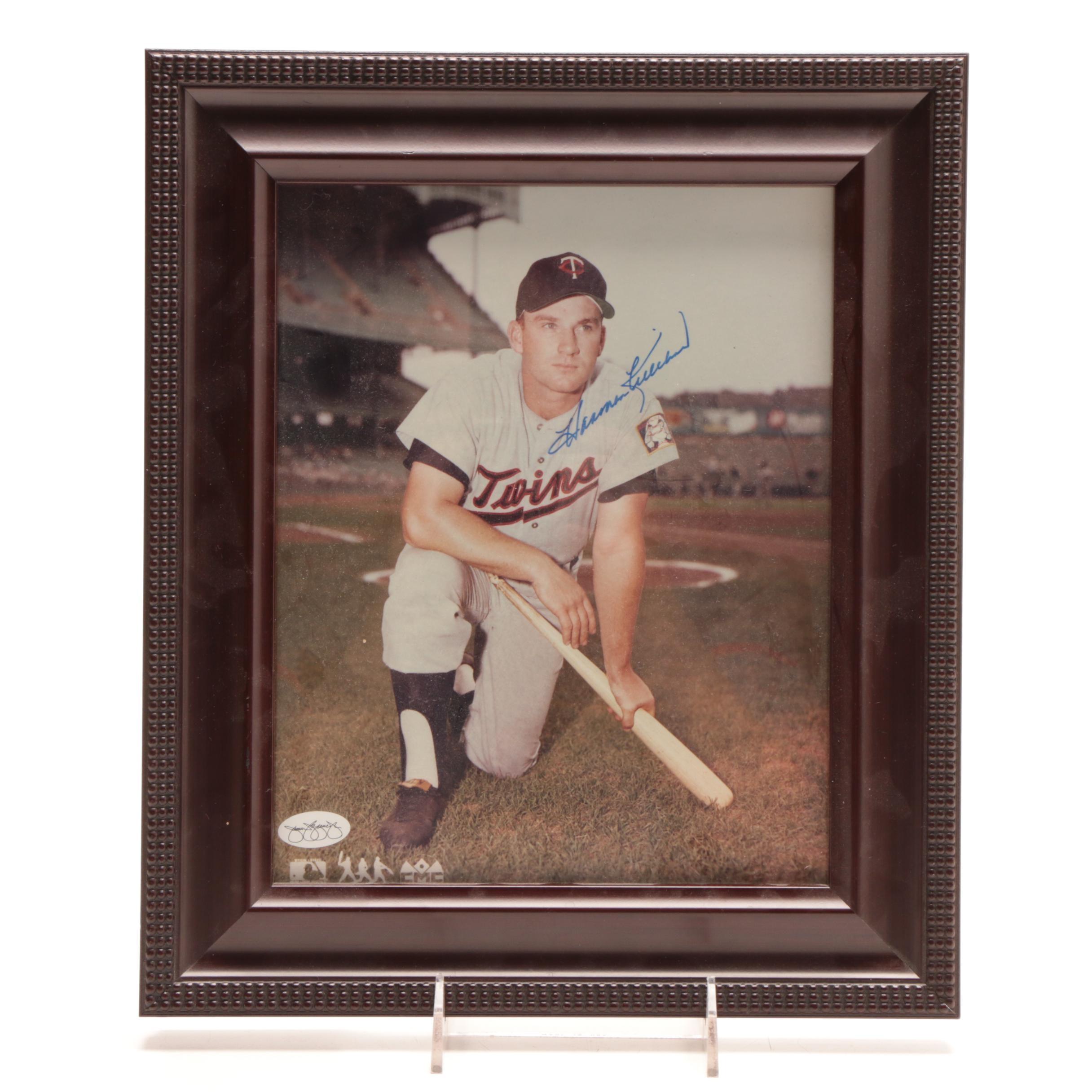 (HOF) Harmon Killebrew Signed Framed Baseball Photo Print JSA COA