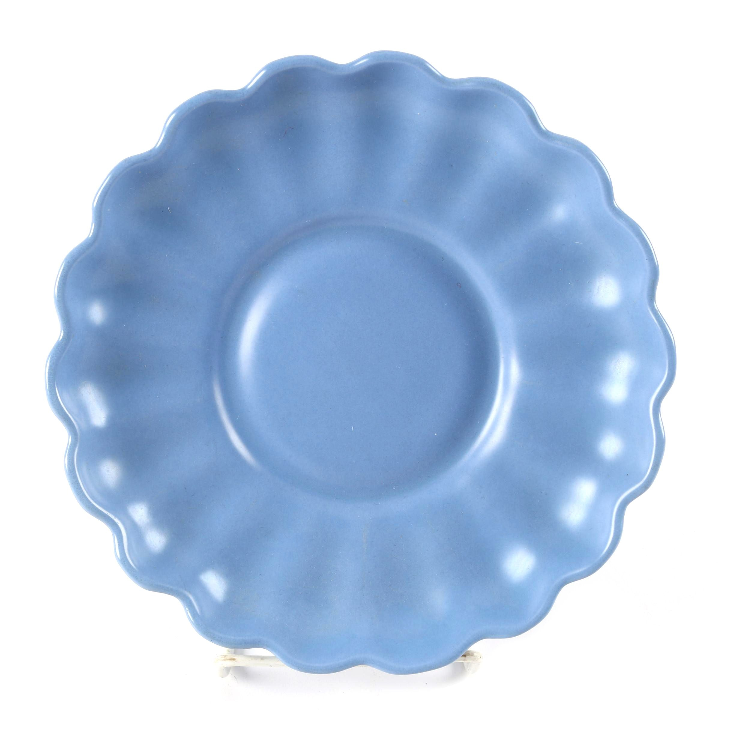 """Catalina Pottery """"Rancho Blue"""" Fluted Plate"""