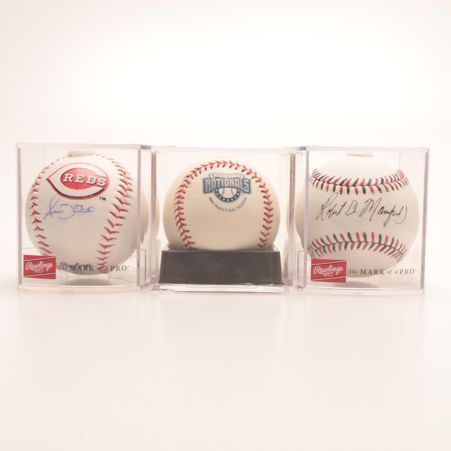 703dfc45a81 Two Signed Baseballs and One Logo Baseballs   EBTH