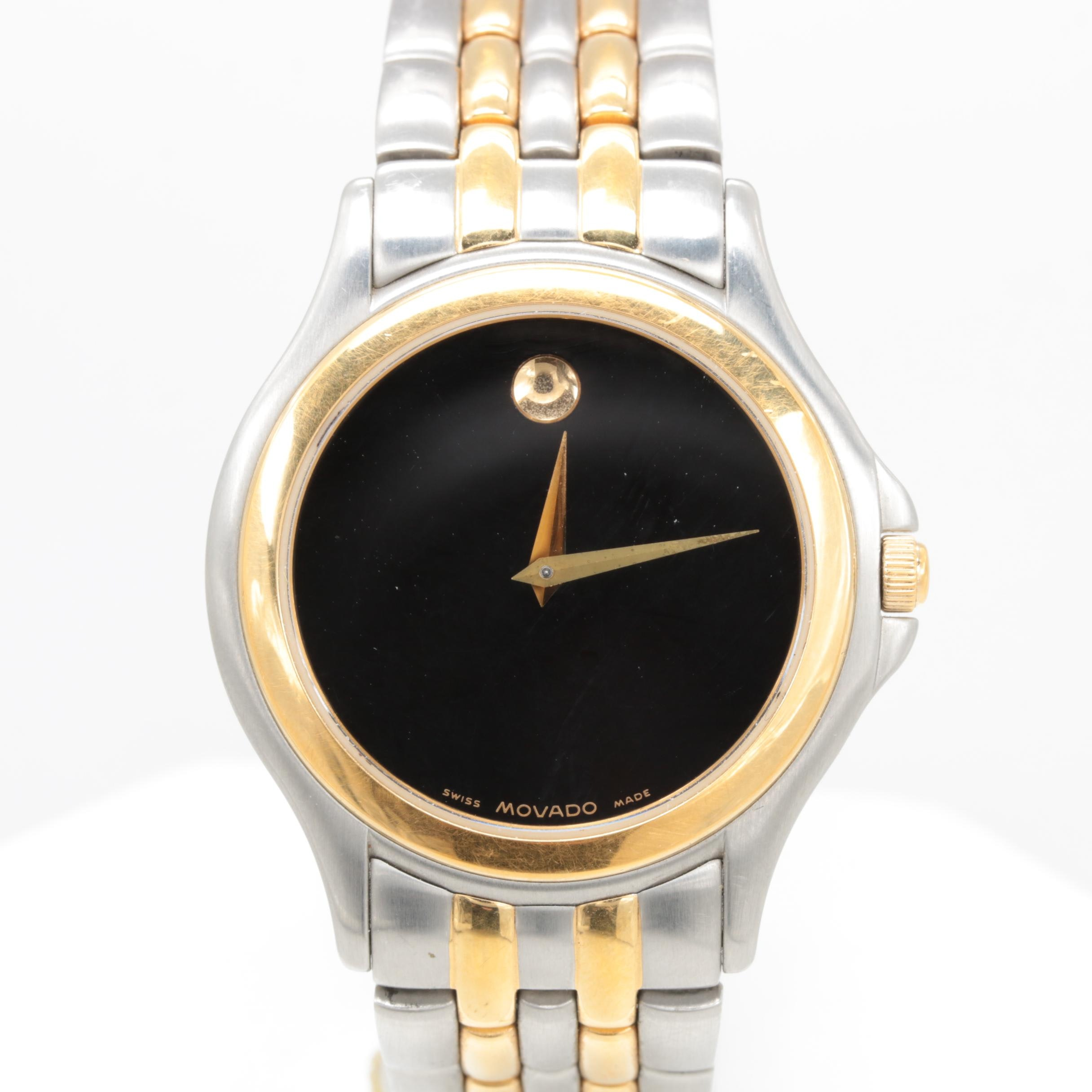 Movado Two Tone Stainless Steel Wristwatch