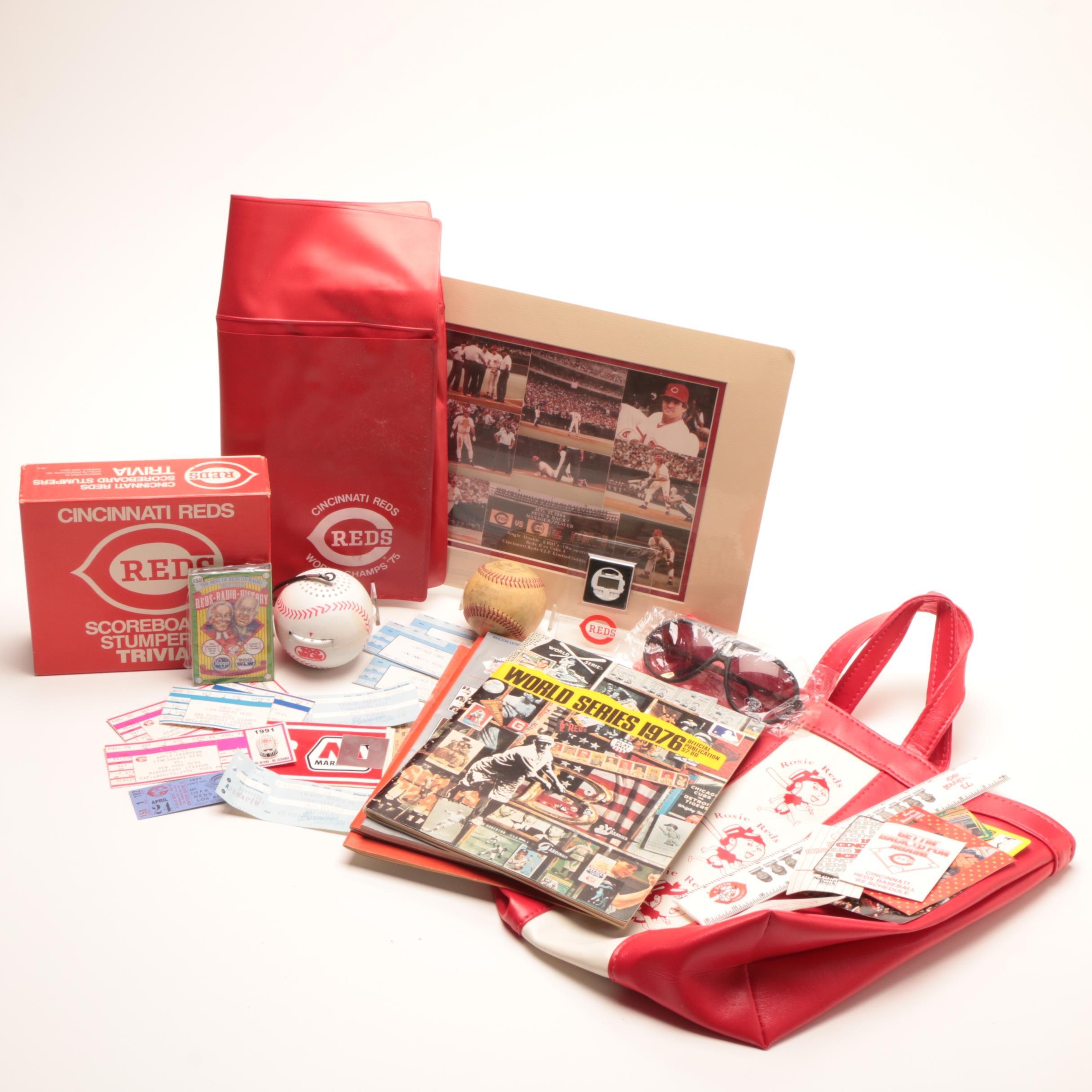 1970s-2000s Cincinnati Reds and Bengals Memorabilia and Collectibles
