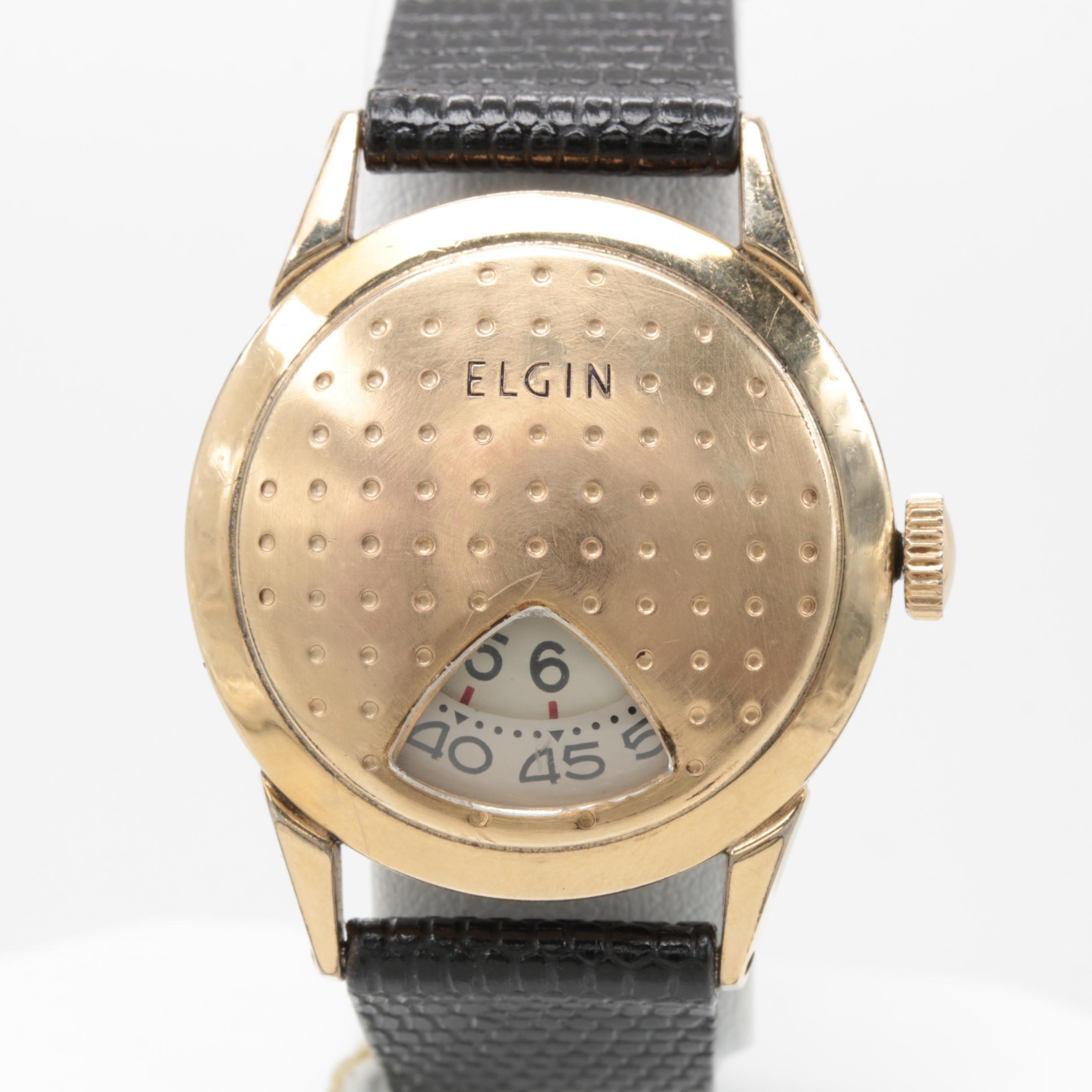 """Elgin """"Golf Ball Direct Read"""" Wristwatch"""