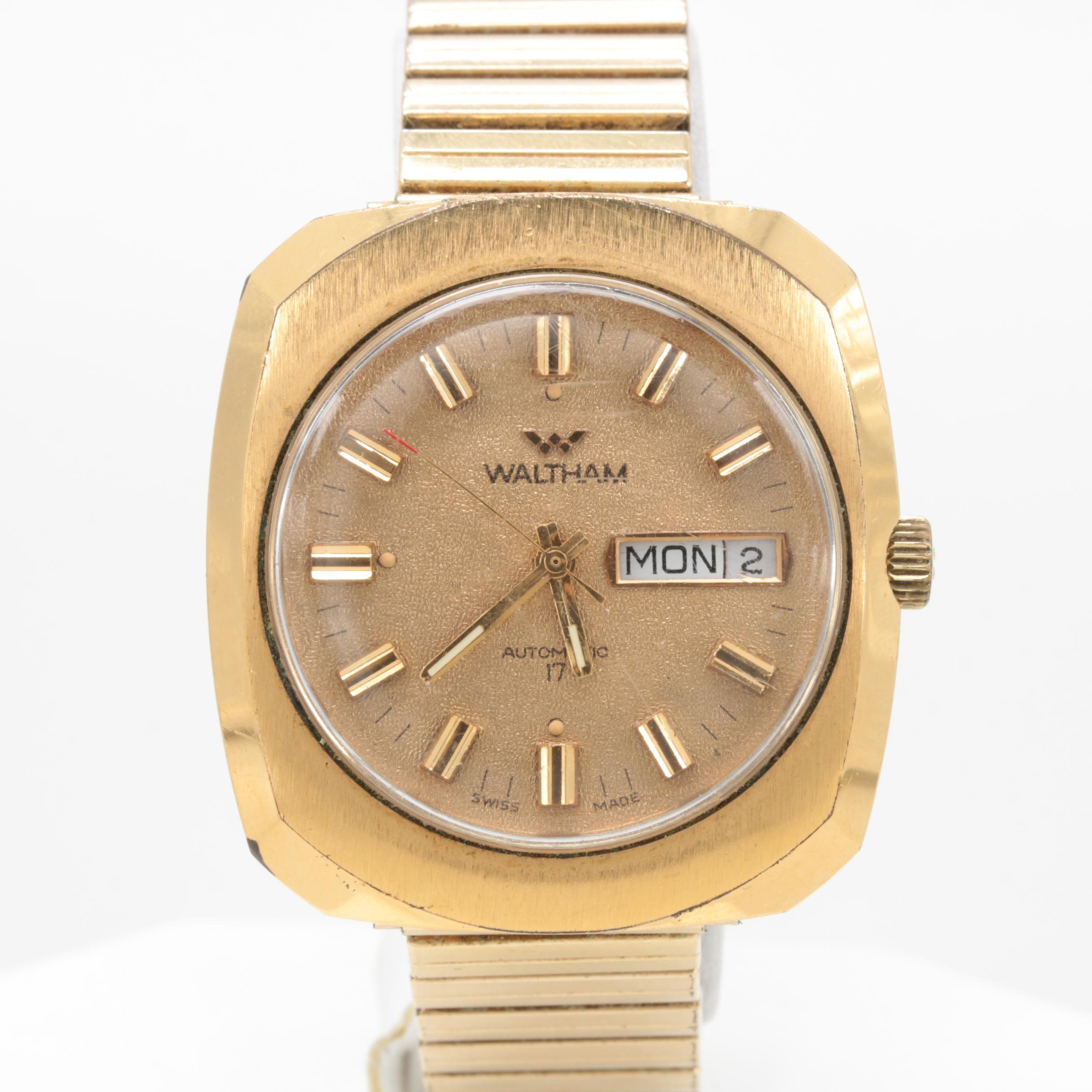 Waltham Gold Tone Automatic Wristwatch