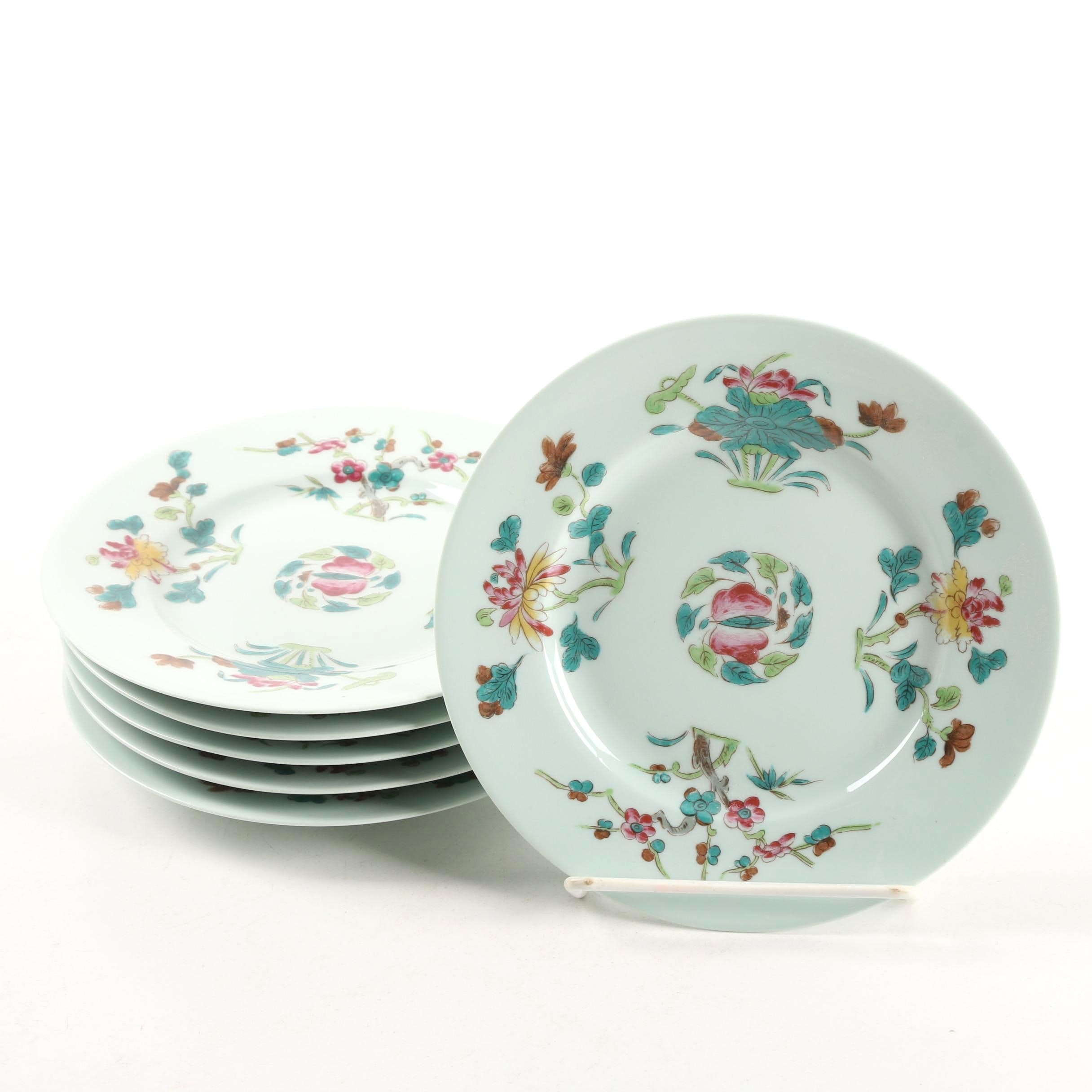 "Céralene Limoges ""Nymphea"" Porcelain Bread and Butter Plates"