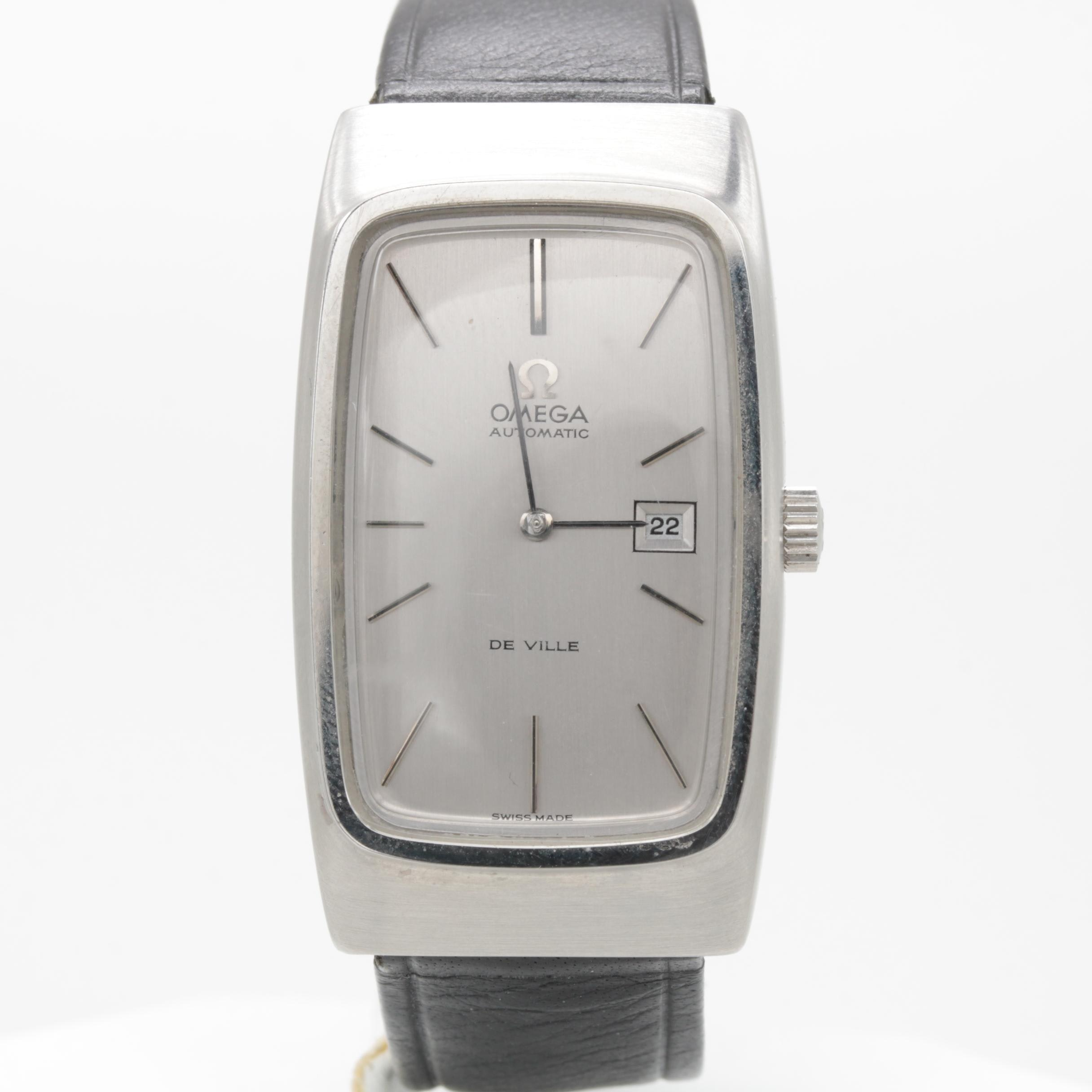 """Vintage Omega """"Deville"""" Stainless Steel Automatic Wristwatch"""