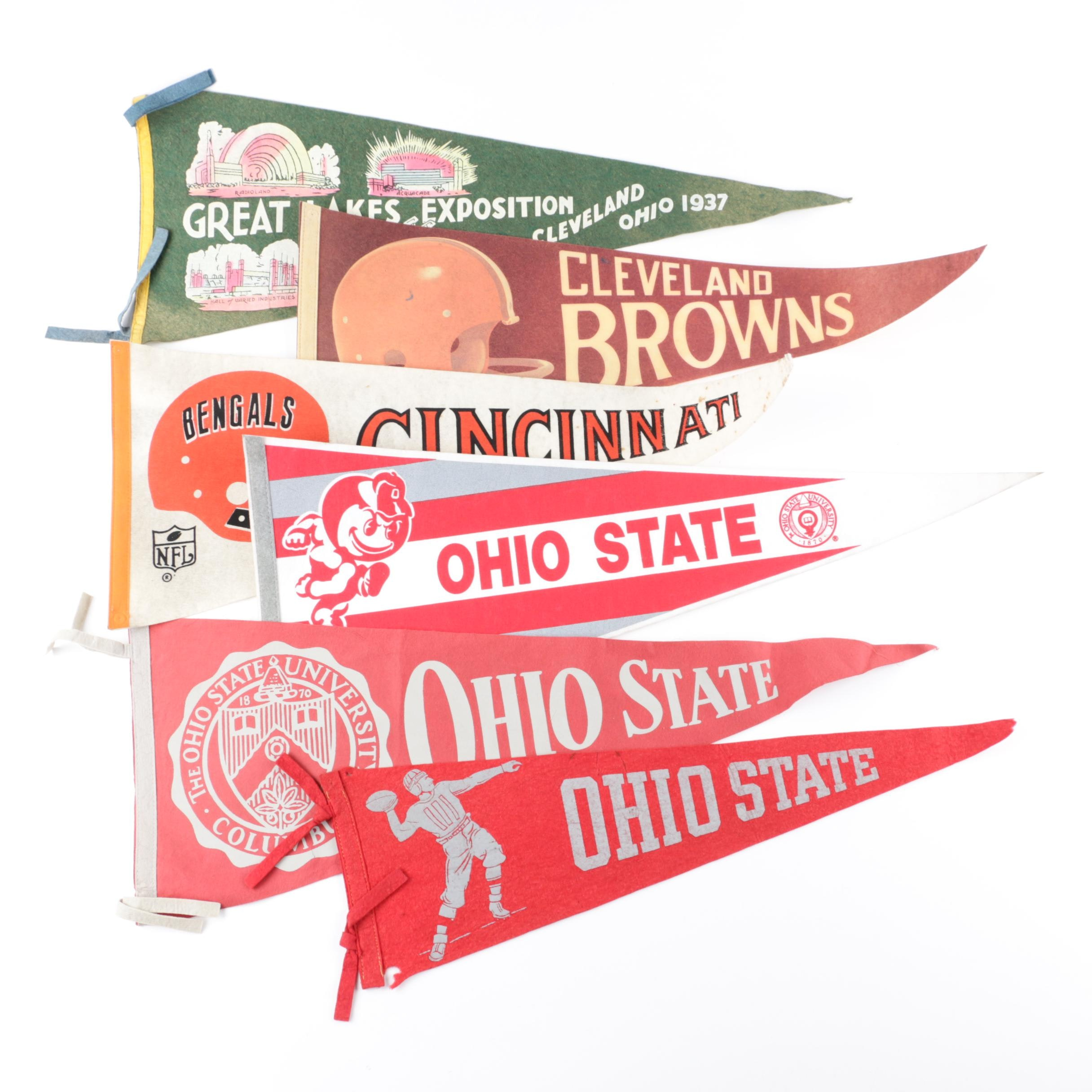Ohio Themed Felt Pennants