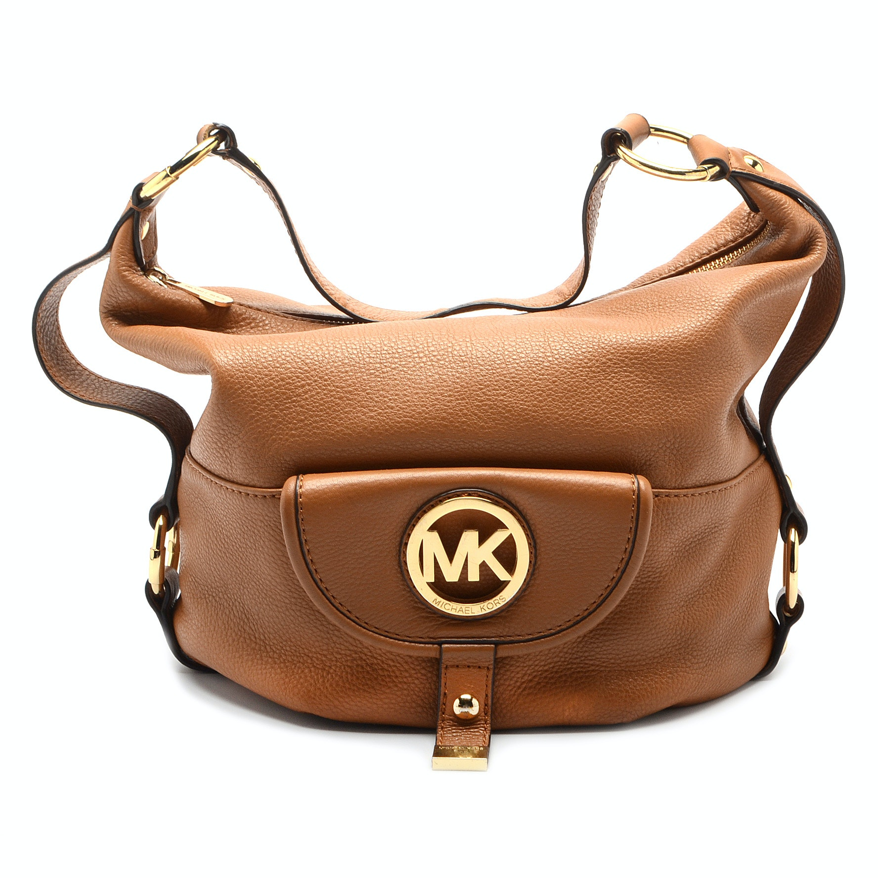 MICHAEL Michael Kors Fulton Tan Leather Shoulder Bag