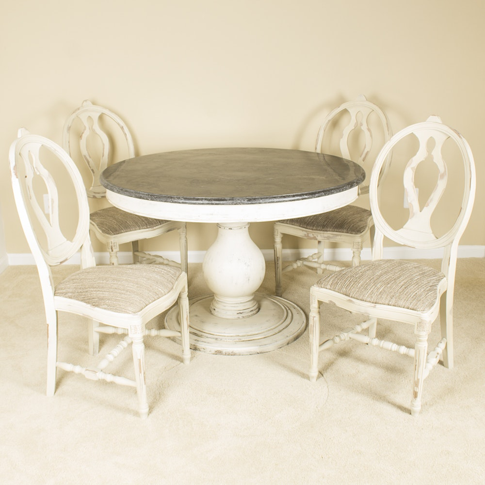 """Luca"" Table and ""Cecilia"" Chairs by Arhaus"