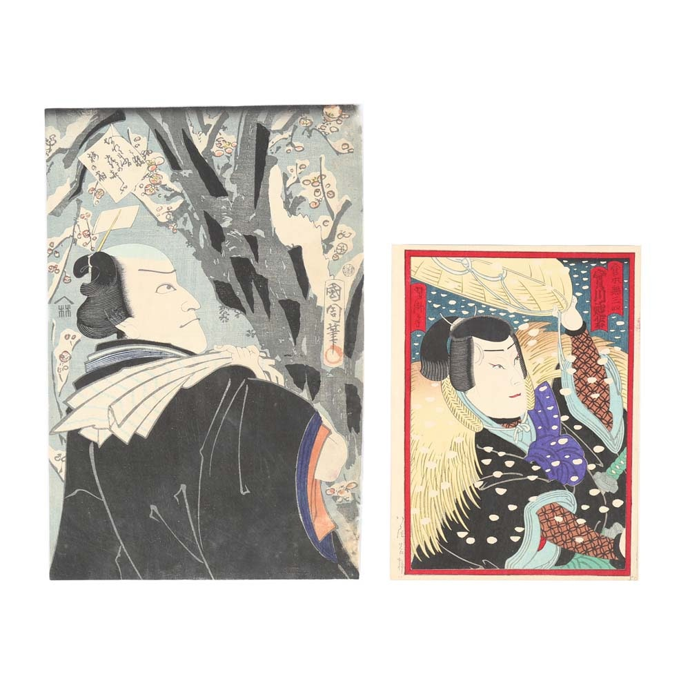 Ukiyo-e Woodblock Prints Including Kunichika