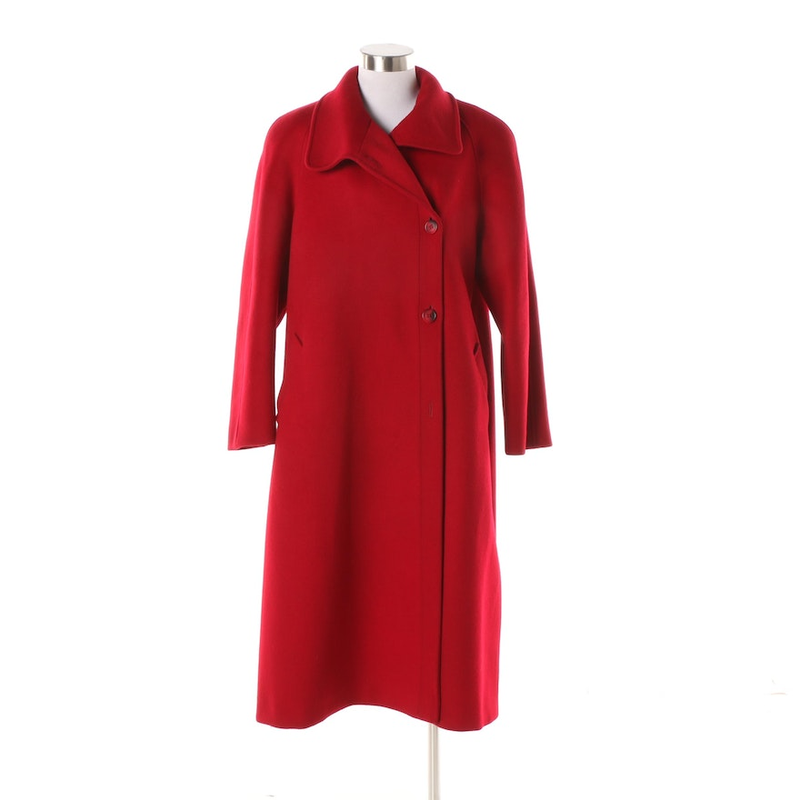 b3d2db7175 Women s Vintage Bromley Red Wool Coat   EBTH