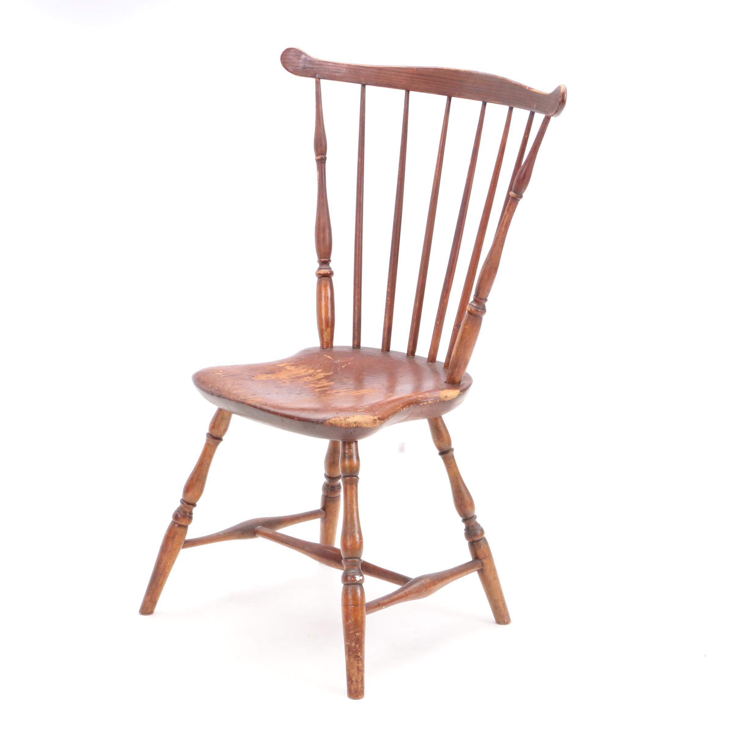 Antique American Fan-Back Windsor Chair