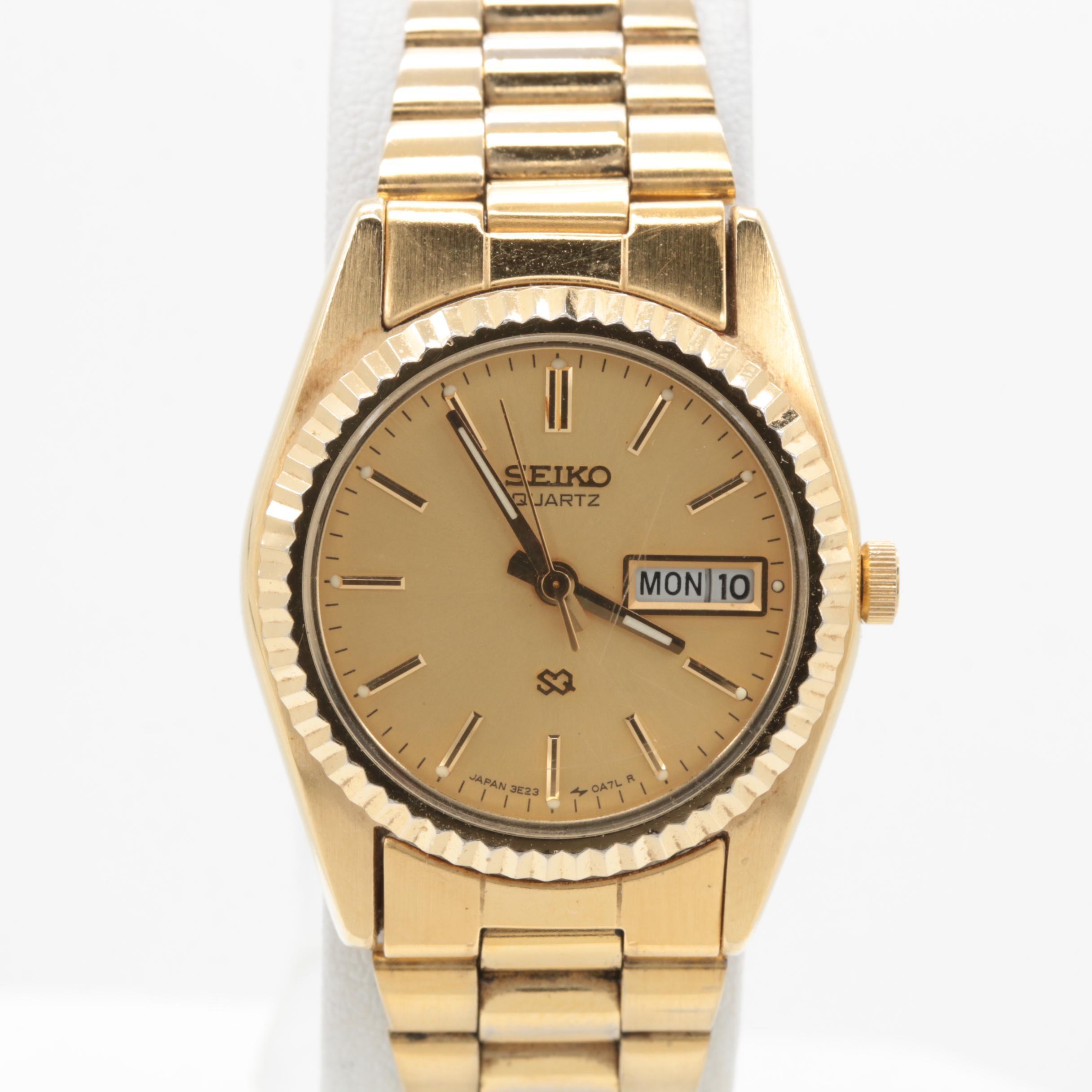 Seiko Gold Tone Wristwatch