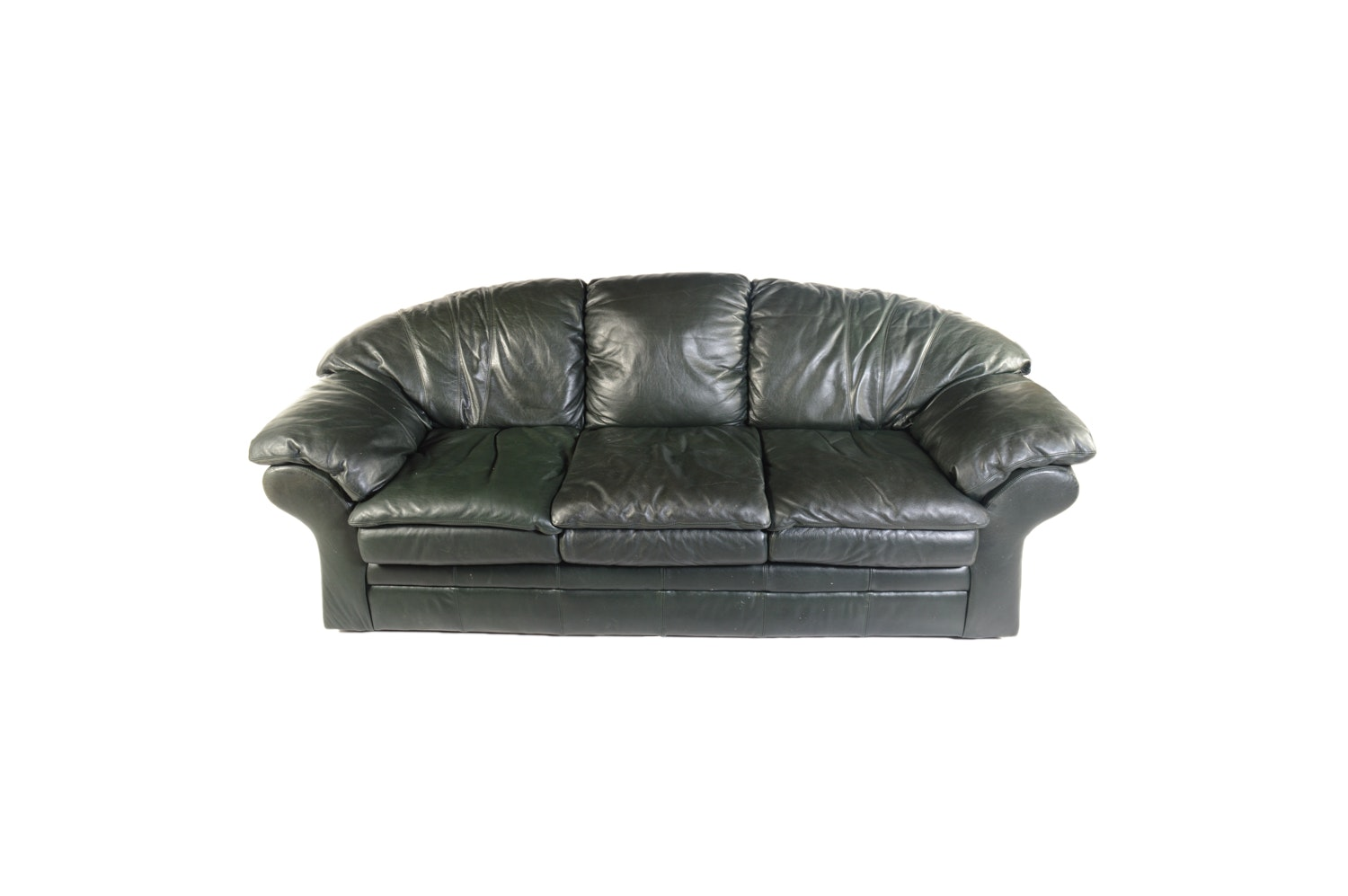 Black Leather Sofa by Viewpoint Leather Works
