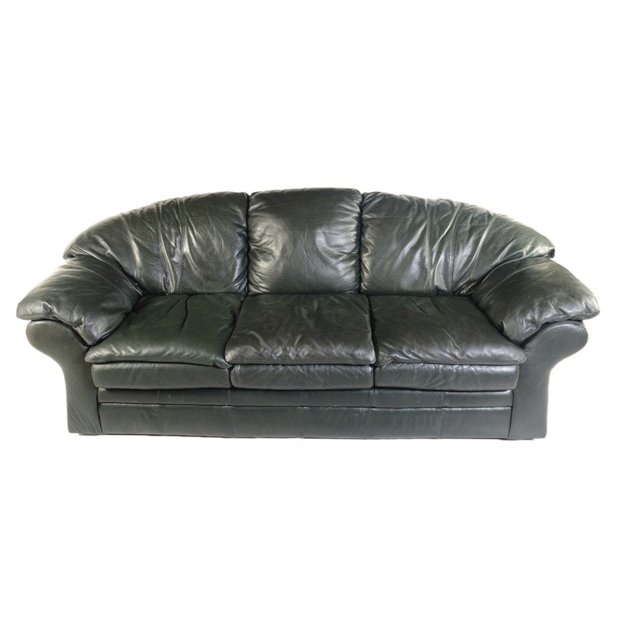 Black Leather Sofa By Viewpoint Works