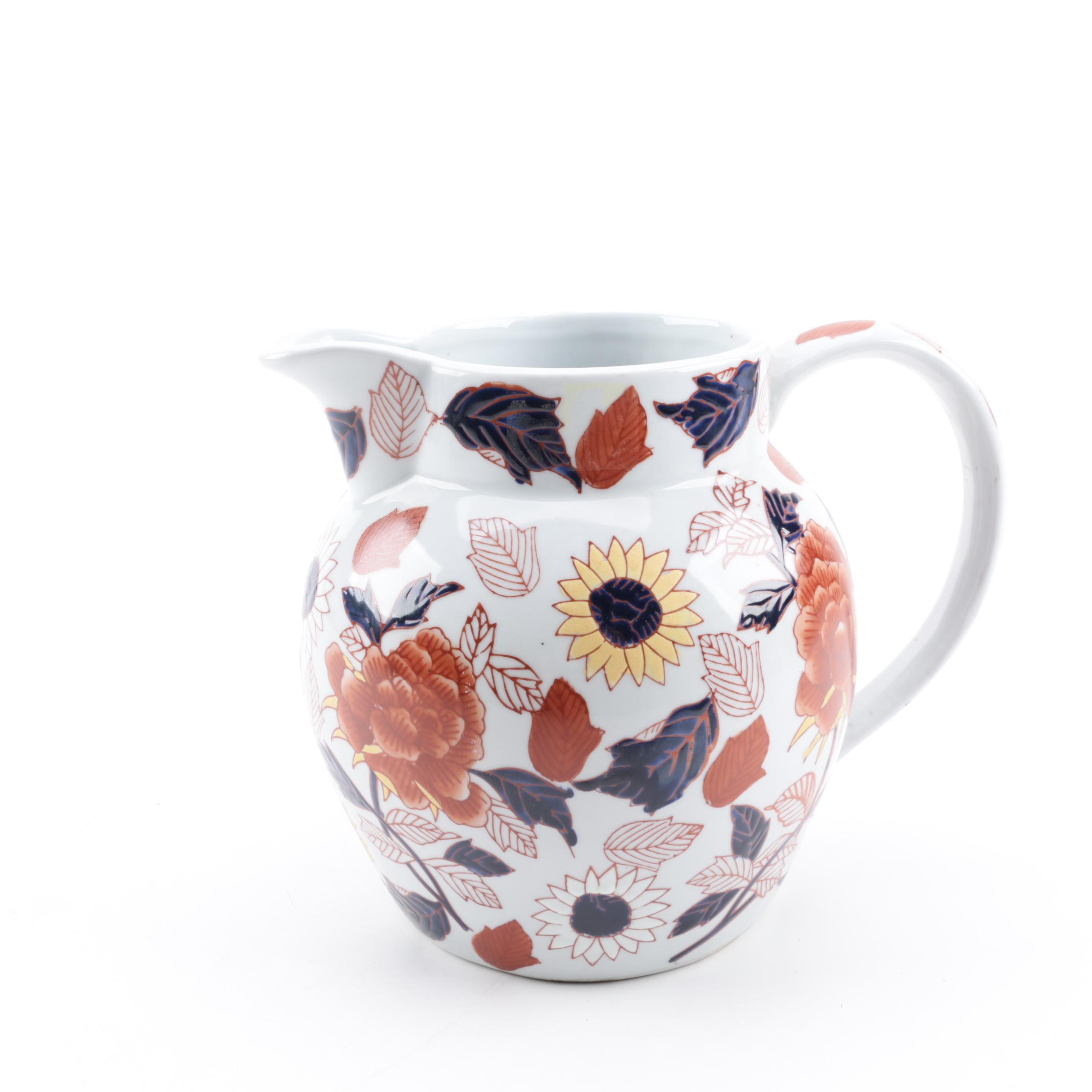 Imari Style Reproduction Ironstone Pitcher