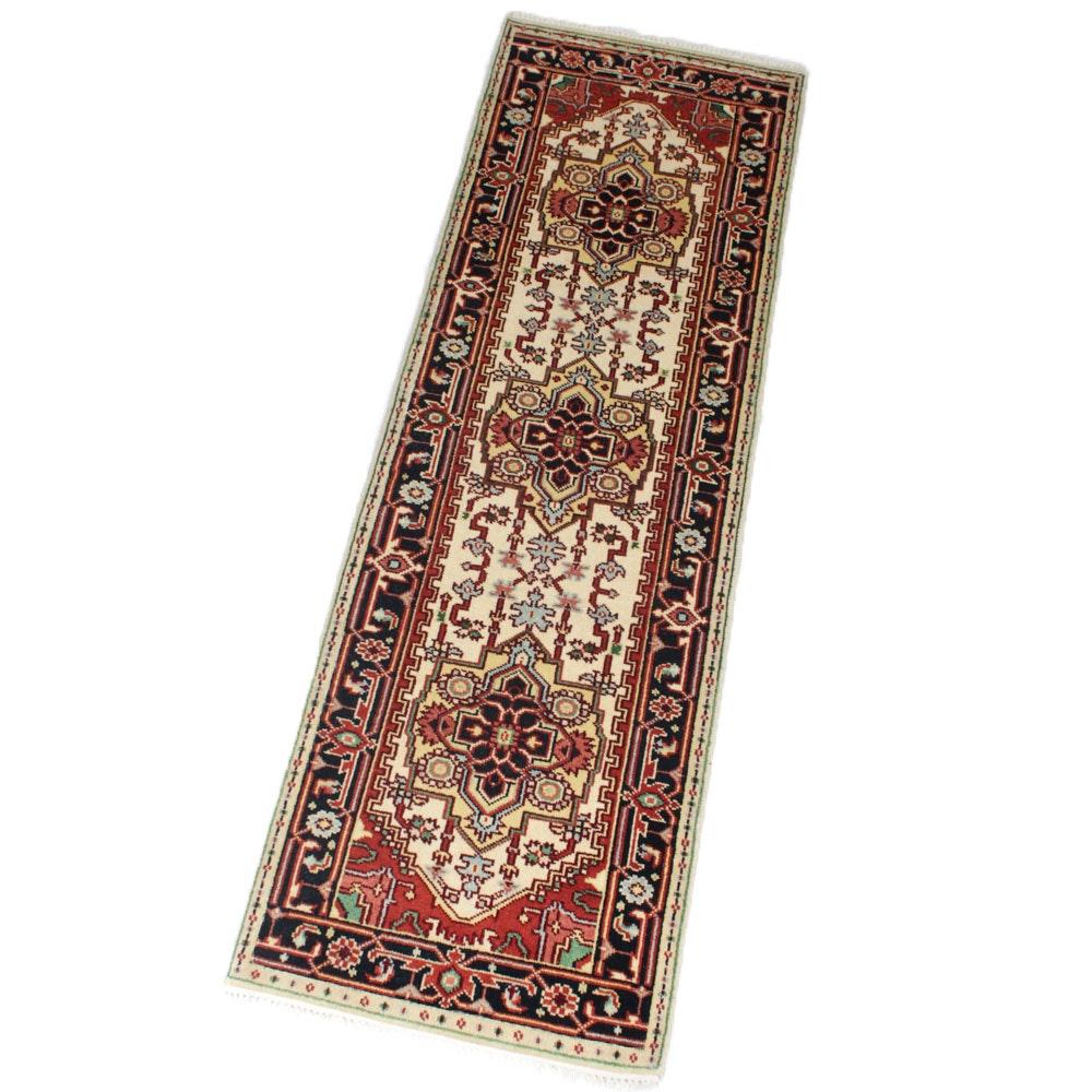 2'7 x 8'3 Hand-Knotted Persian Heriz Serapi Runner