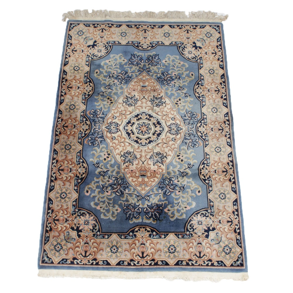 4'0 x 6'7 Vintage Hand-Knotted Sino-French Savonnerie Rug