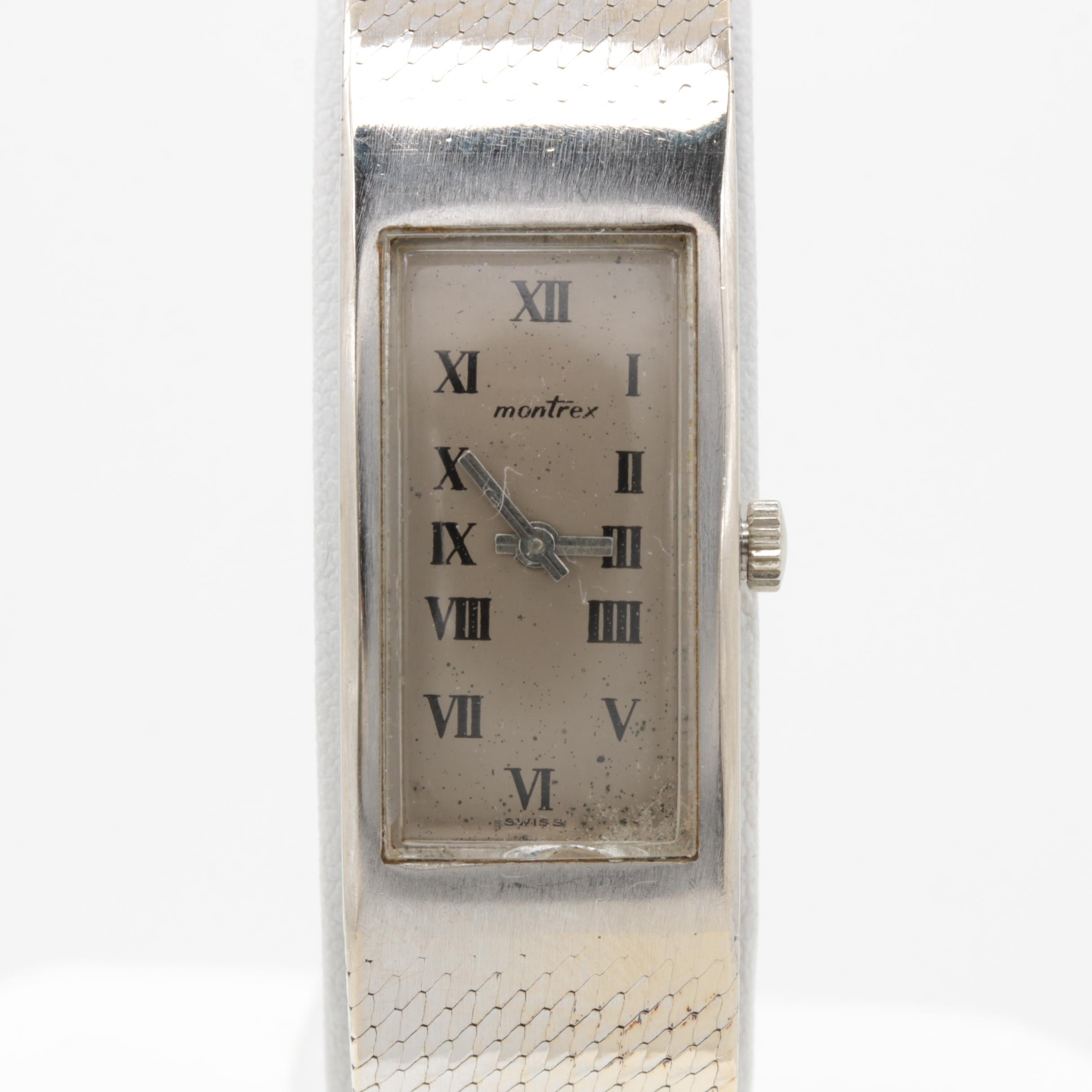 Montrex 18K White Gold Stem Wind Wristwatch